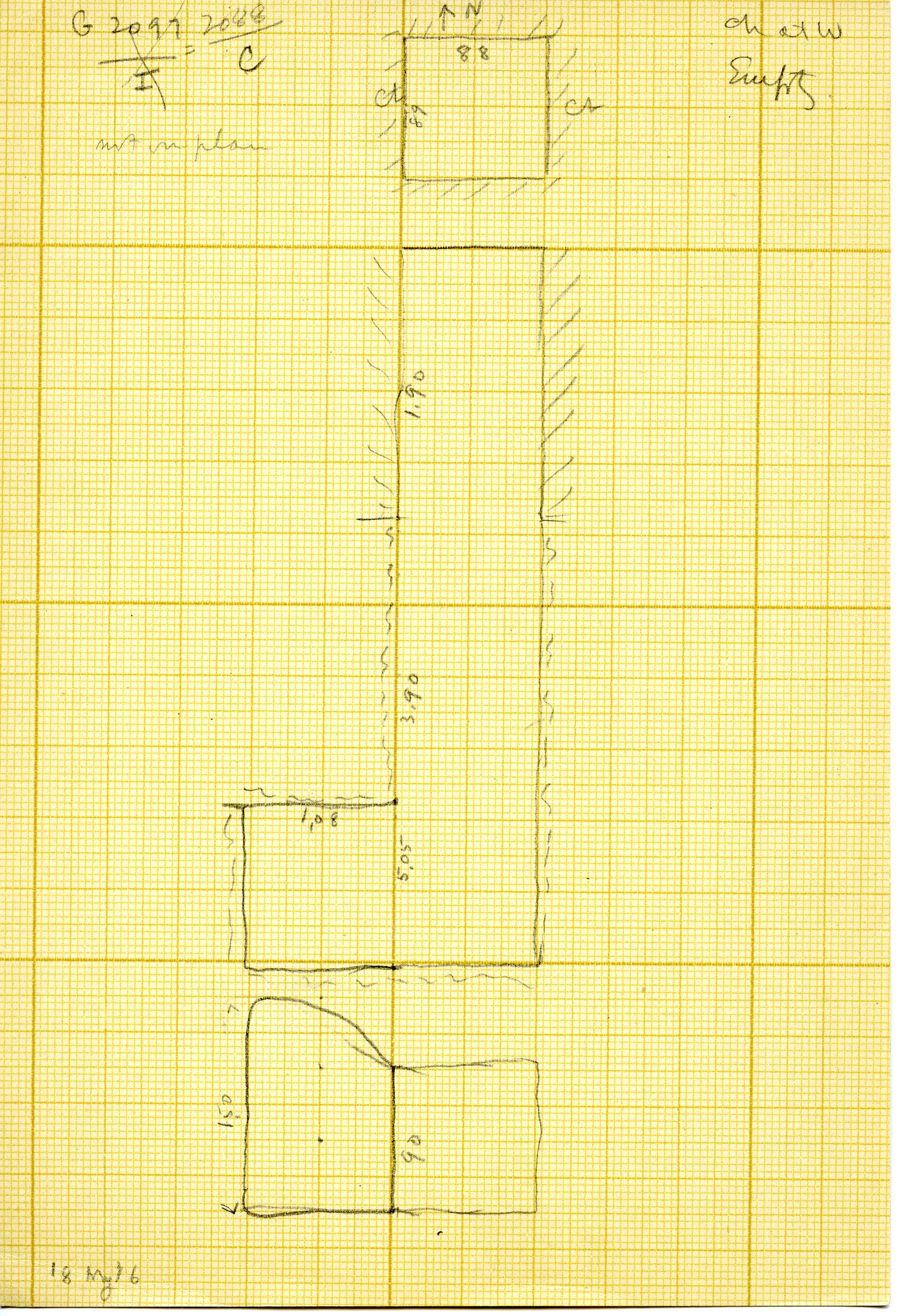 Maps and plans: G 3088, Shaft C