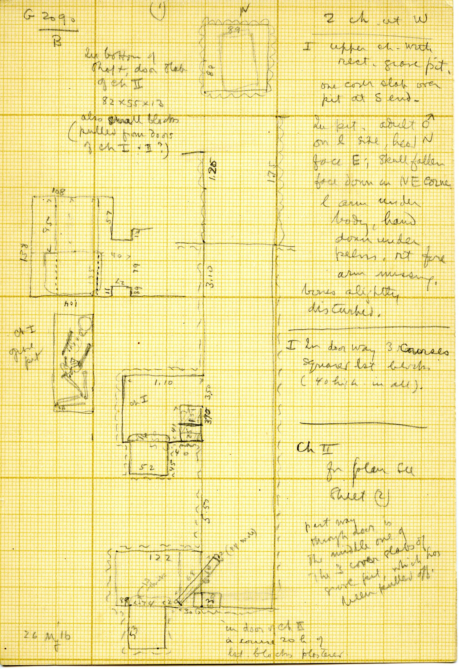 Maps and plans: G 3090, Shaft B