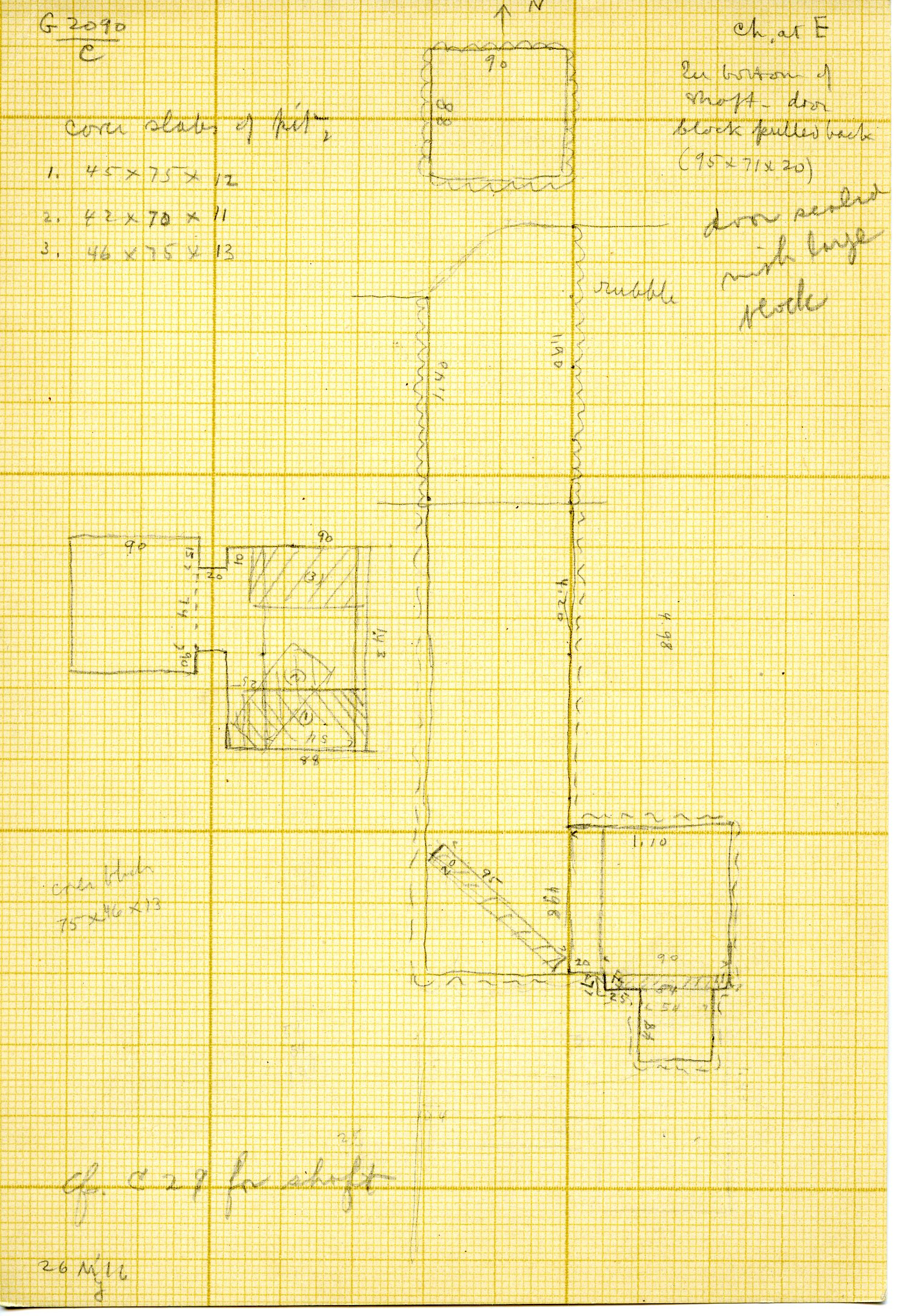 Maps and plans: G 3090, Shaft C