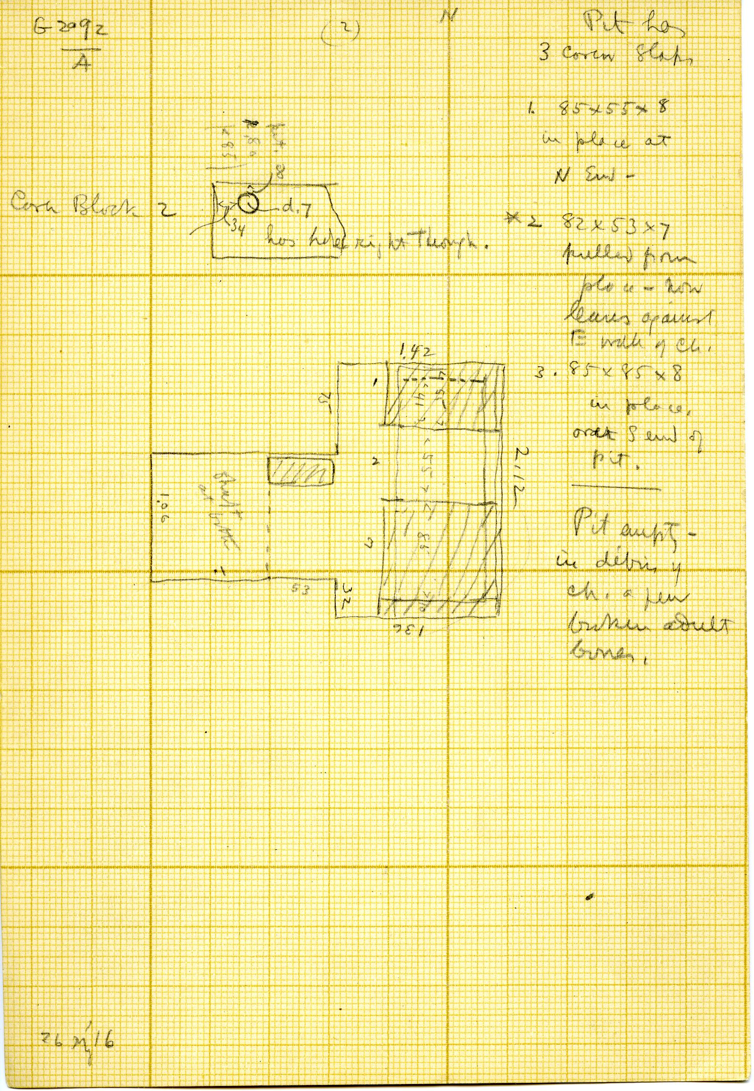 Maps and plans: G 3092, Shaft A