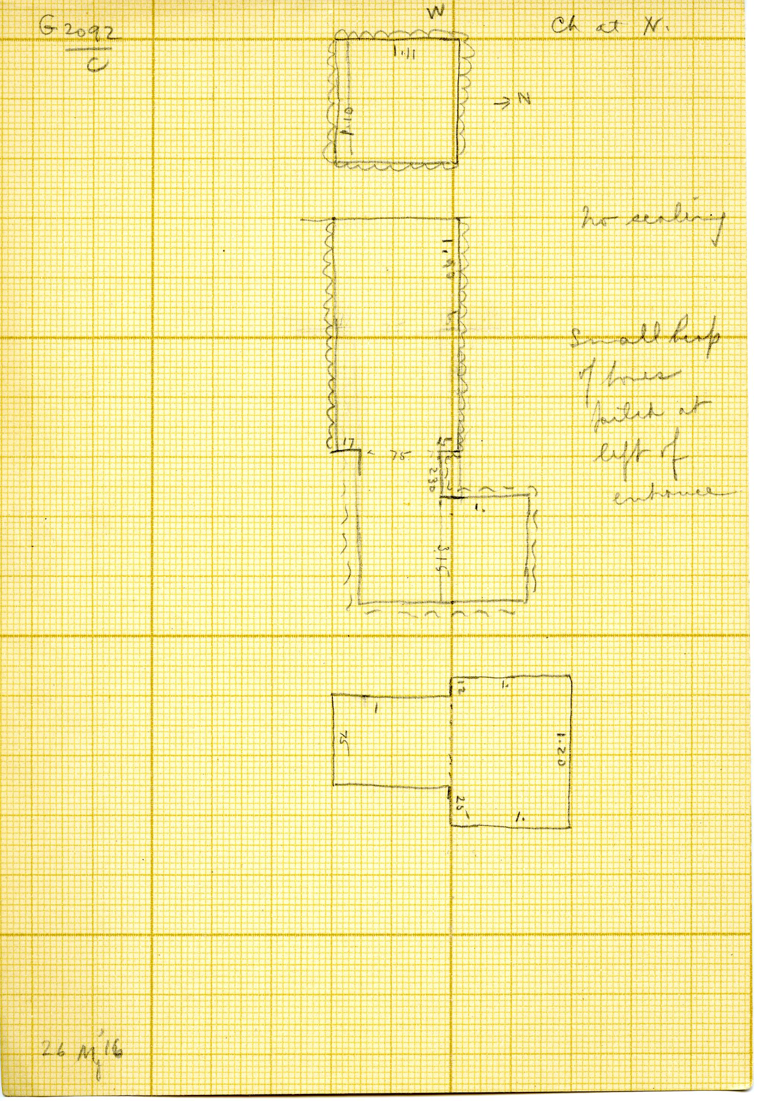 Maps and plans: G 3092, Shaft C