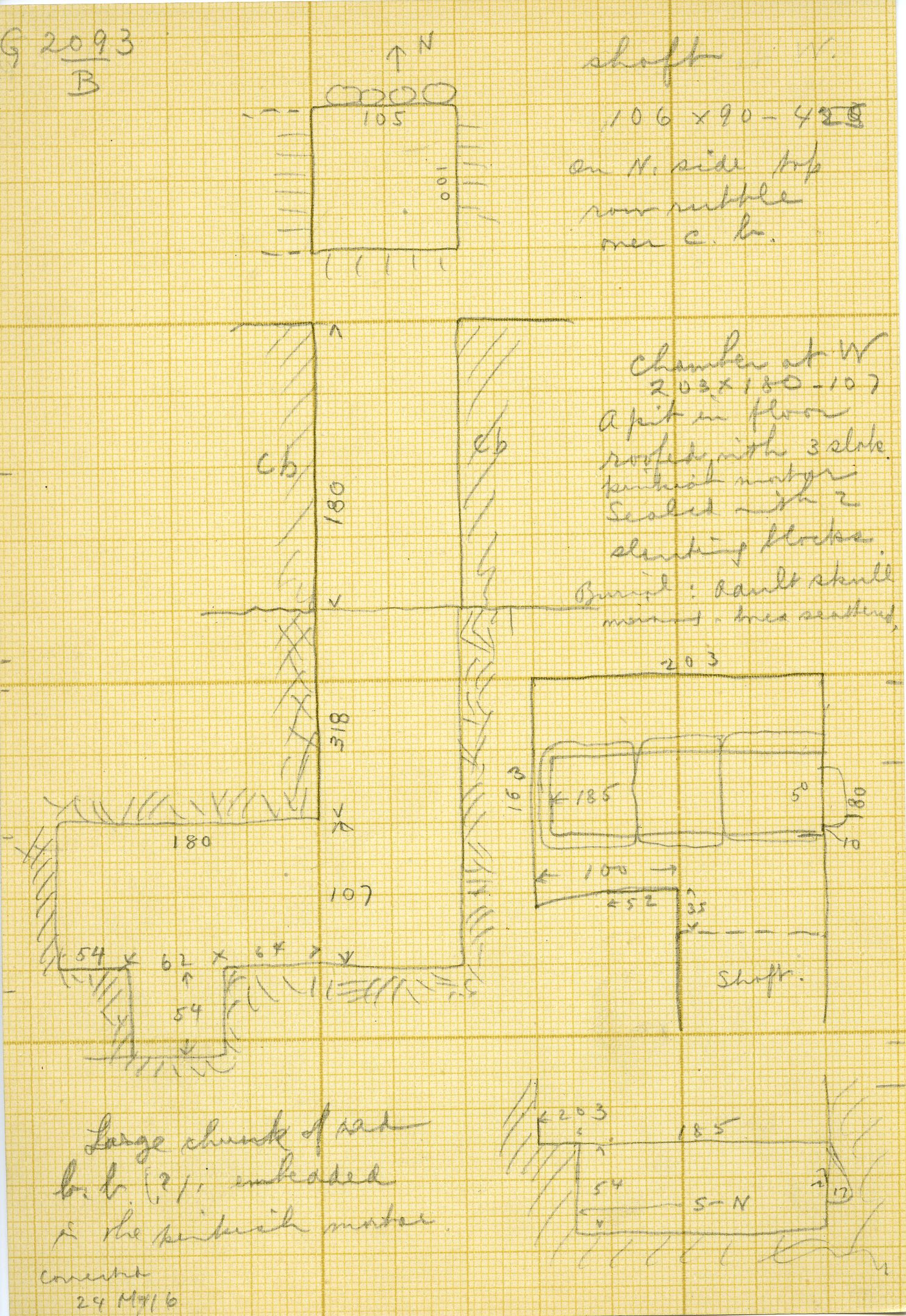Maps and plans: G 3093, Shaft B