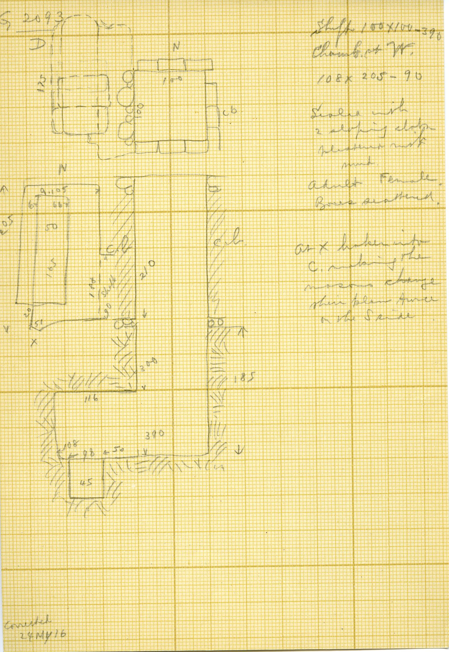 Maps and plans: G 3093, Shaft D
