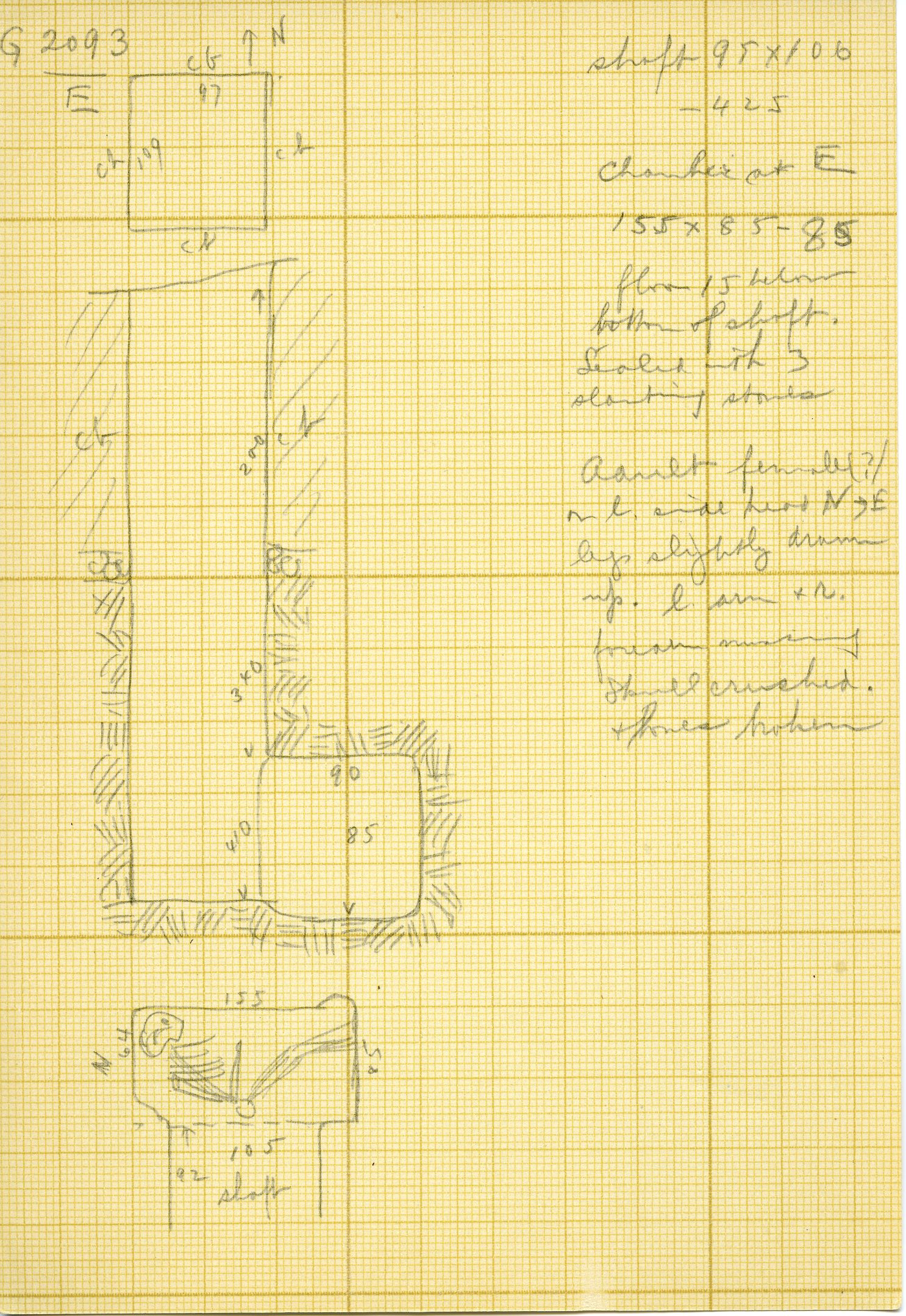 Maps and plans: G 3093, Shaft E