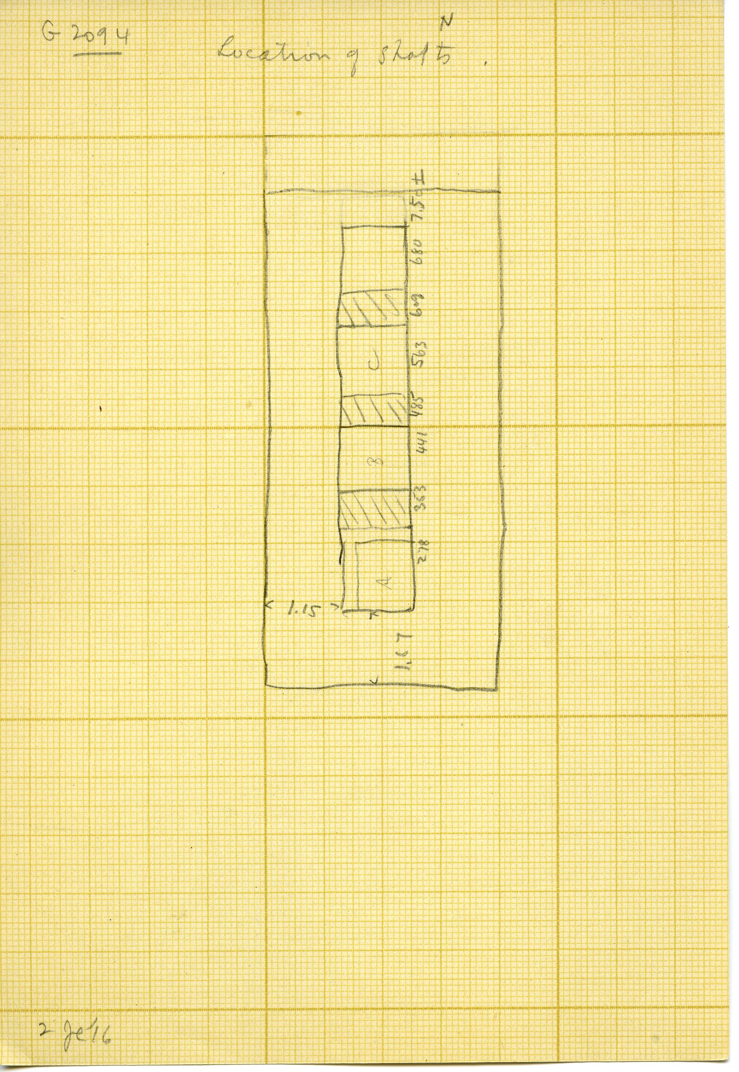 Maps and plans: G 3094, Plan