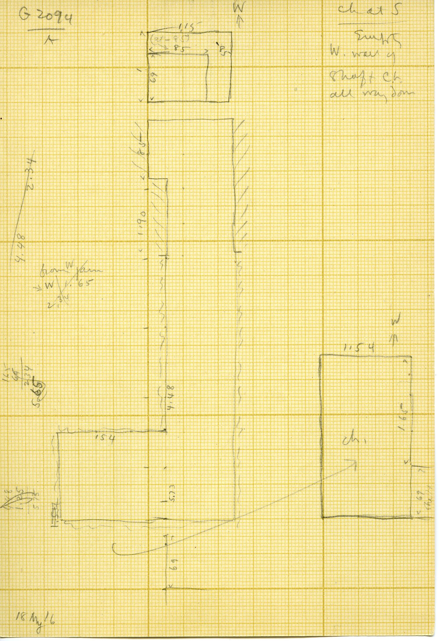 Maps and plans: G 3094, Shaft A