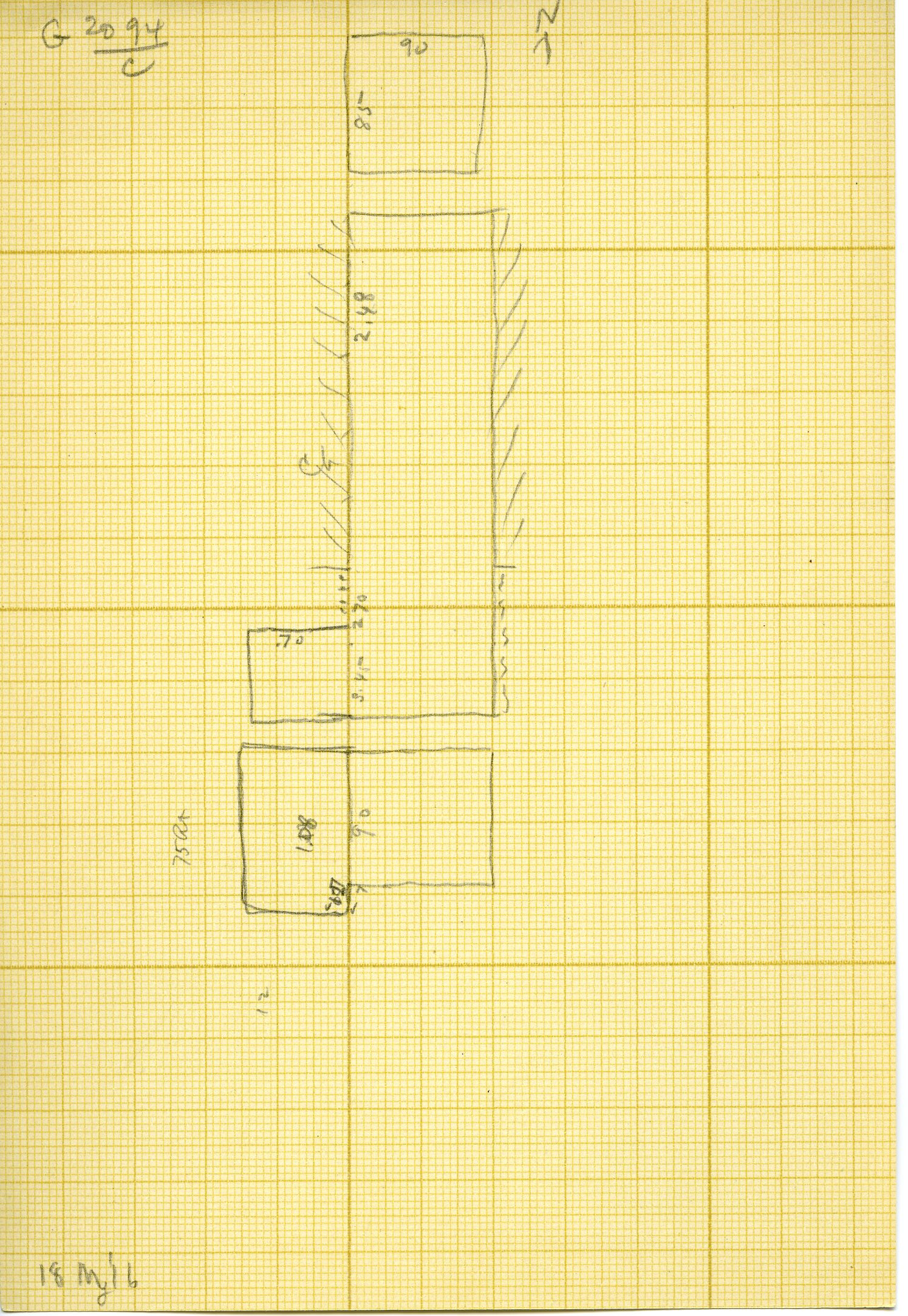 Maps and plans: G 3094, Shaft C