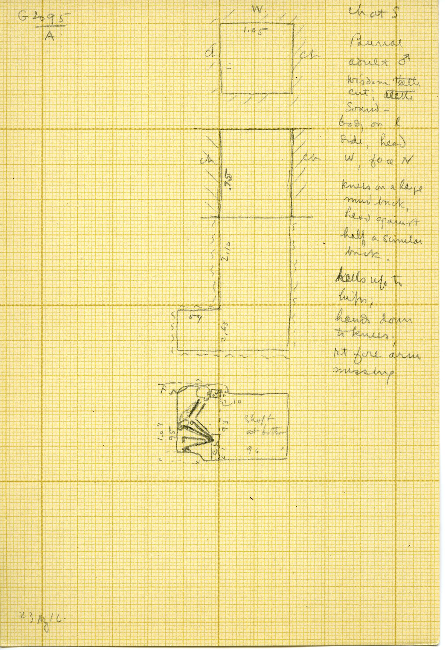 Maps and plans: G 3095, Shaft A