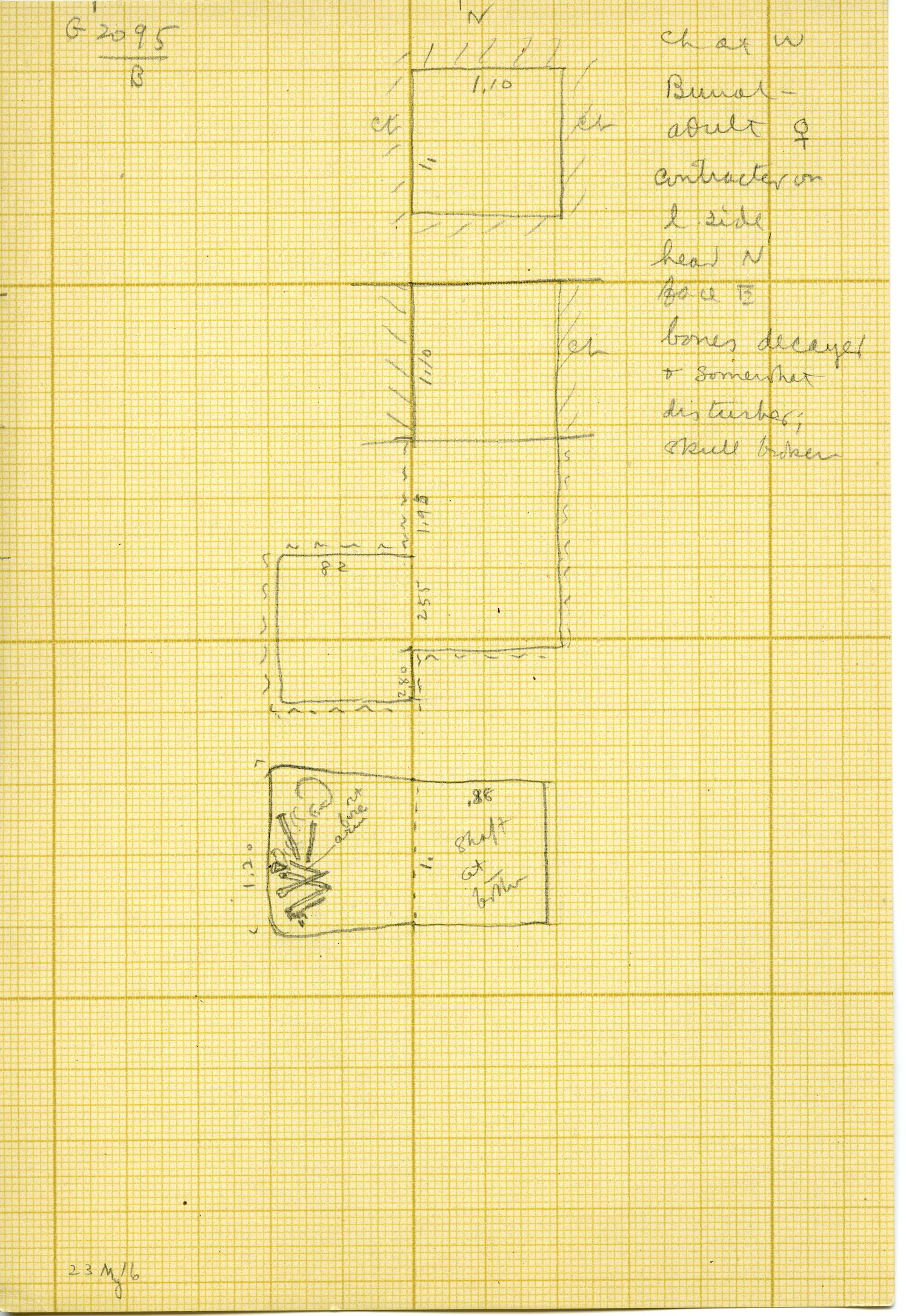 Maps and plans: G 3095, Shaft B