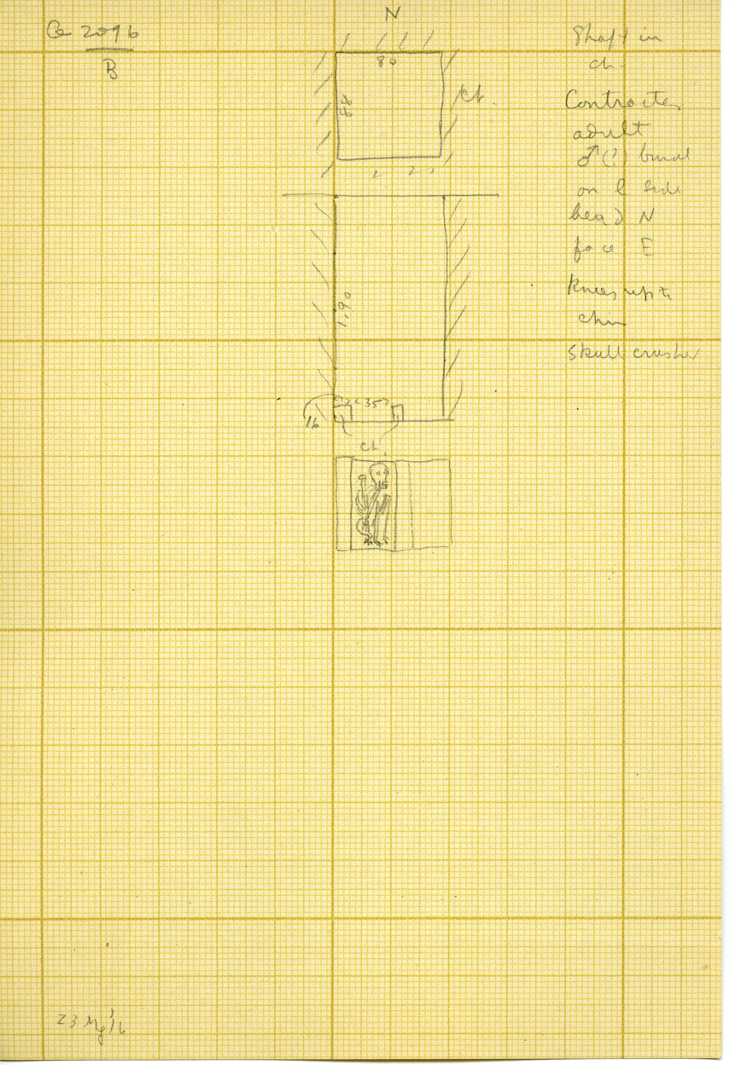 Maps and plans: G 3096, Shaft B