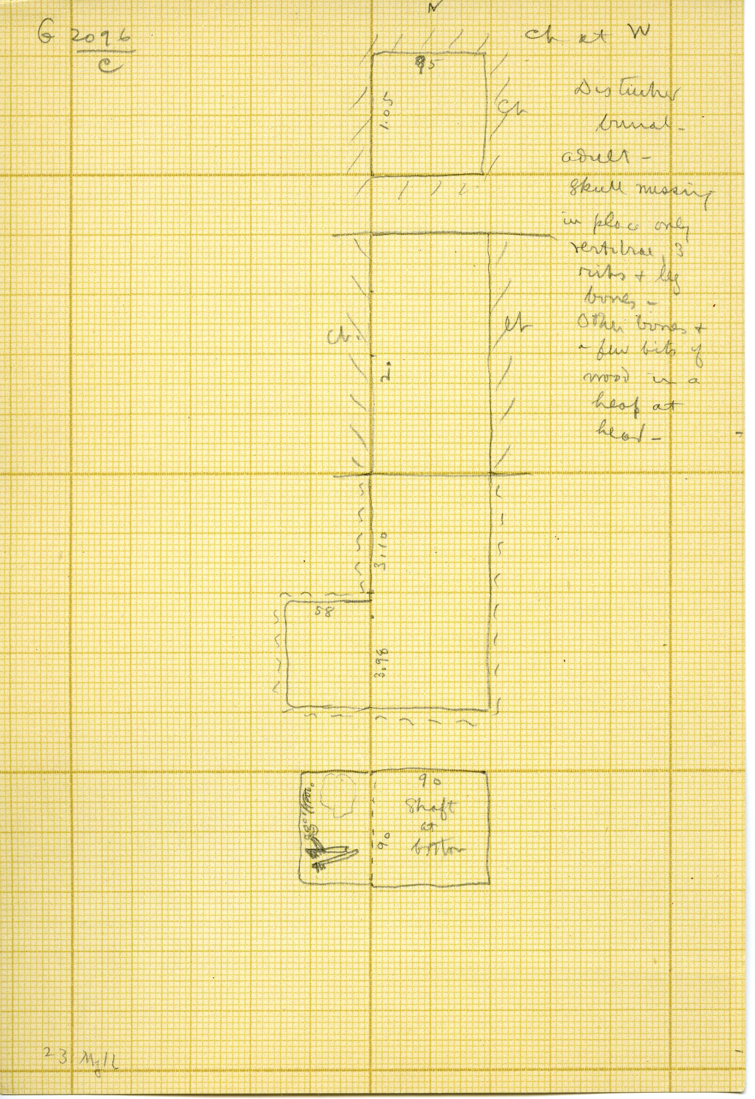 Maps and plans: G 3096, Shaft C