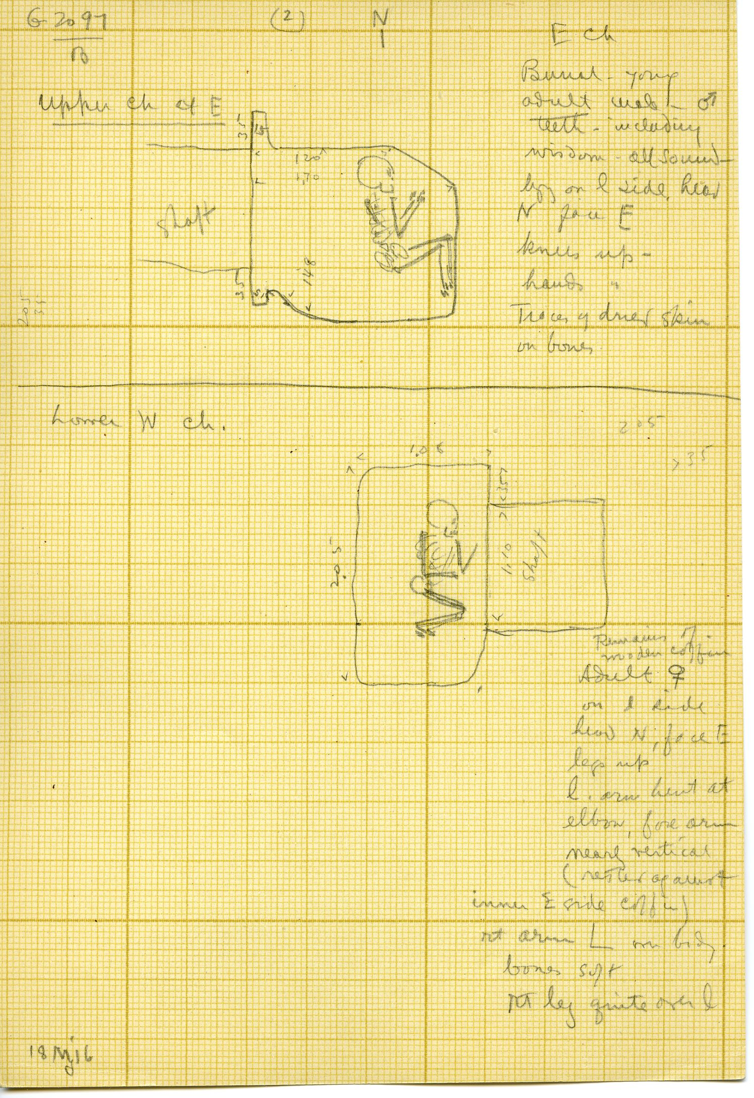 Maps and plans: G 3097, Shaft B