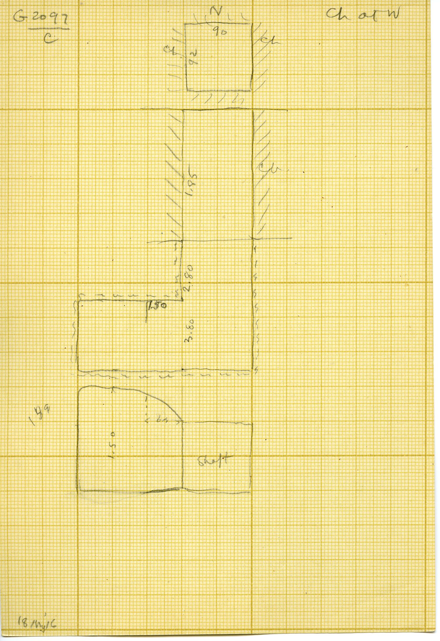 Maps and plans: G 3097, Shaft C