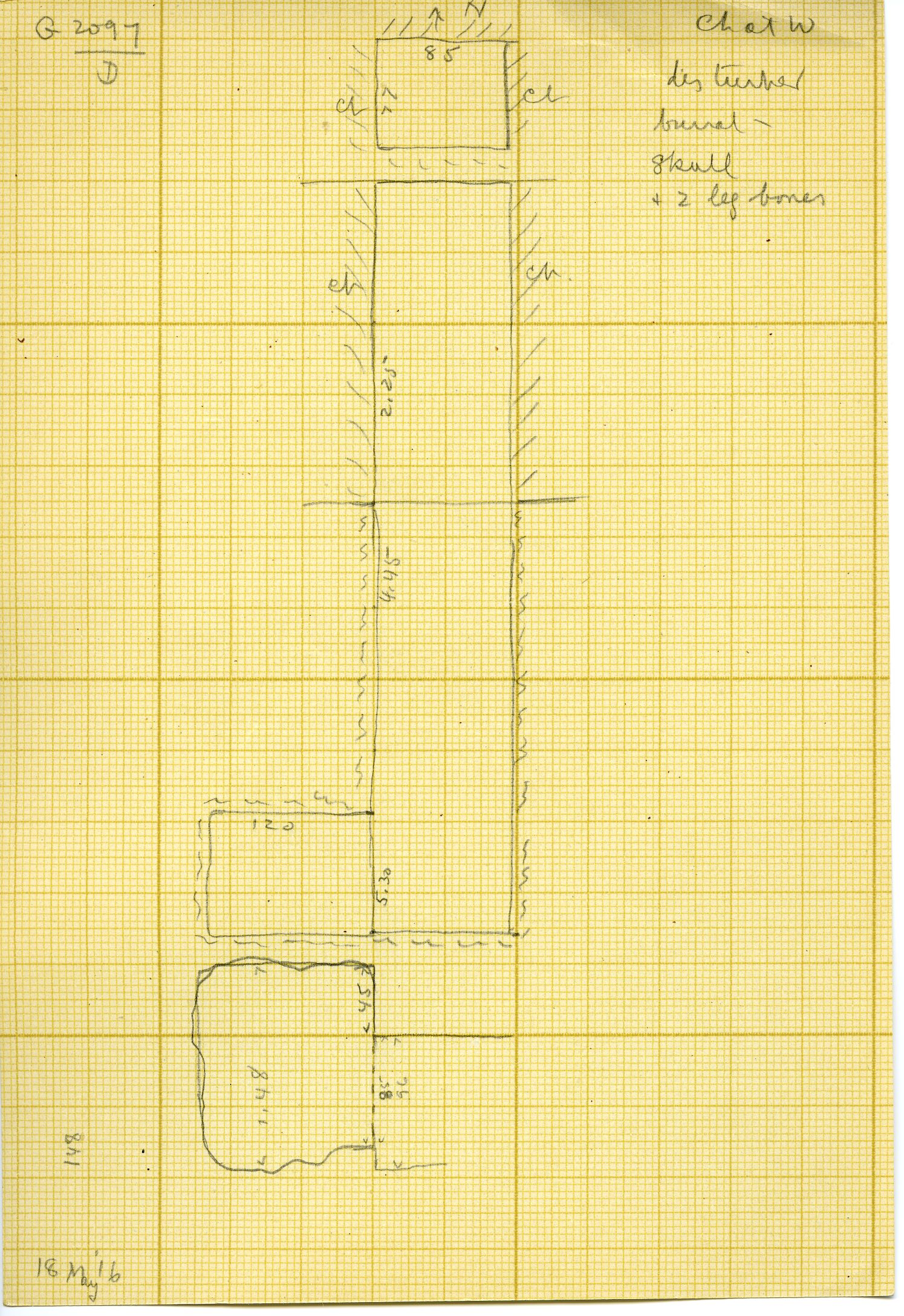 Maps and plans: G 3097, Shaft D