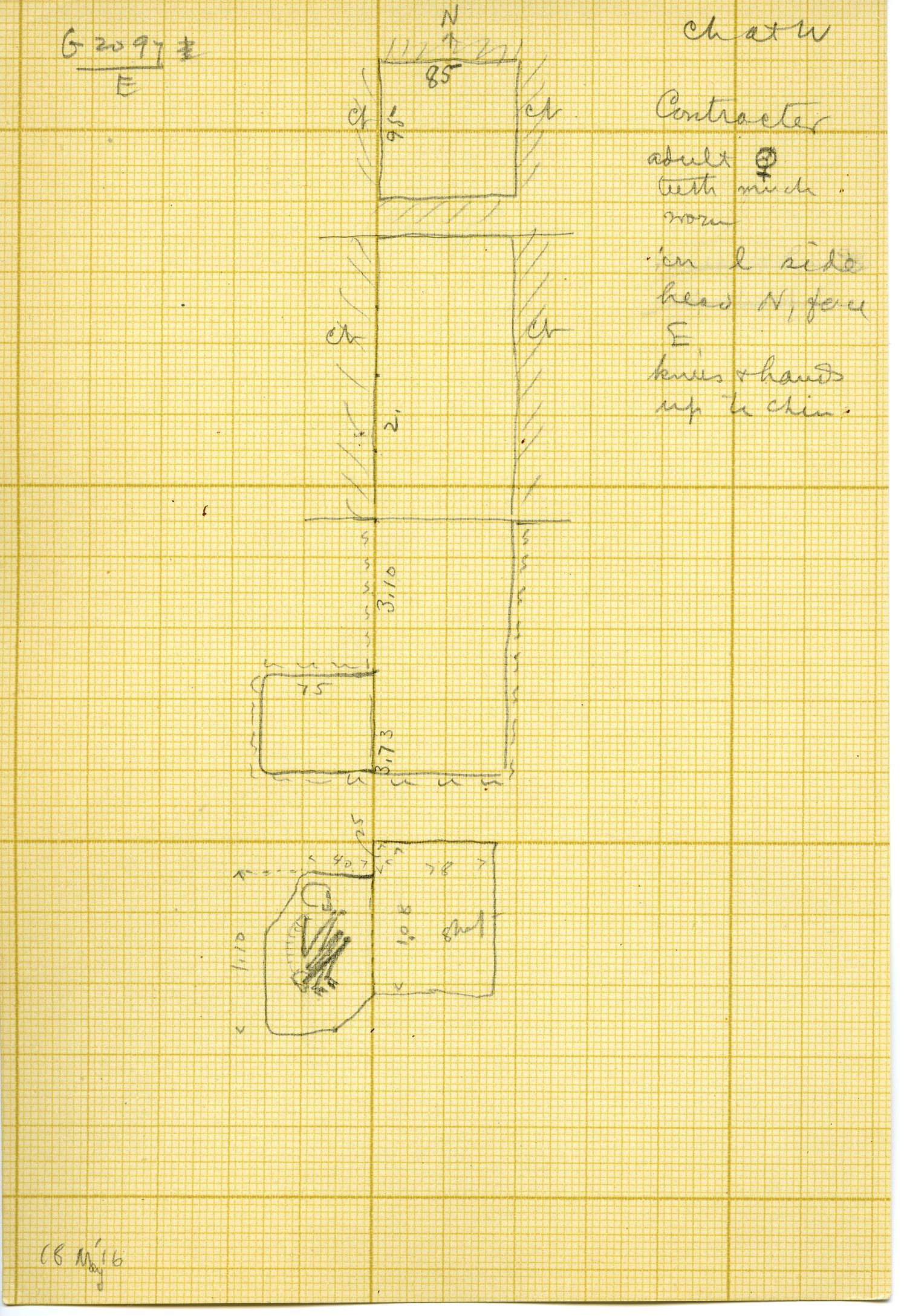 Maps and plans: G 3097, Shaft E