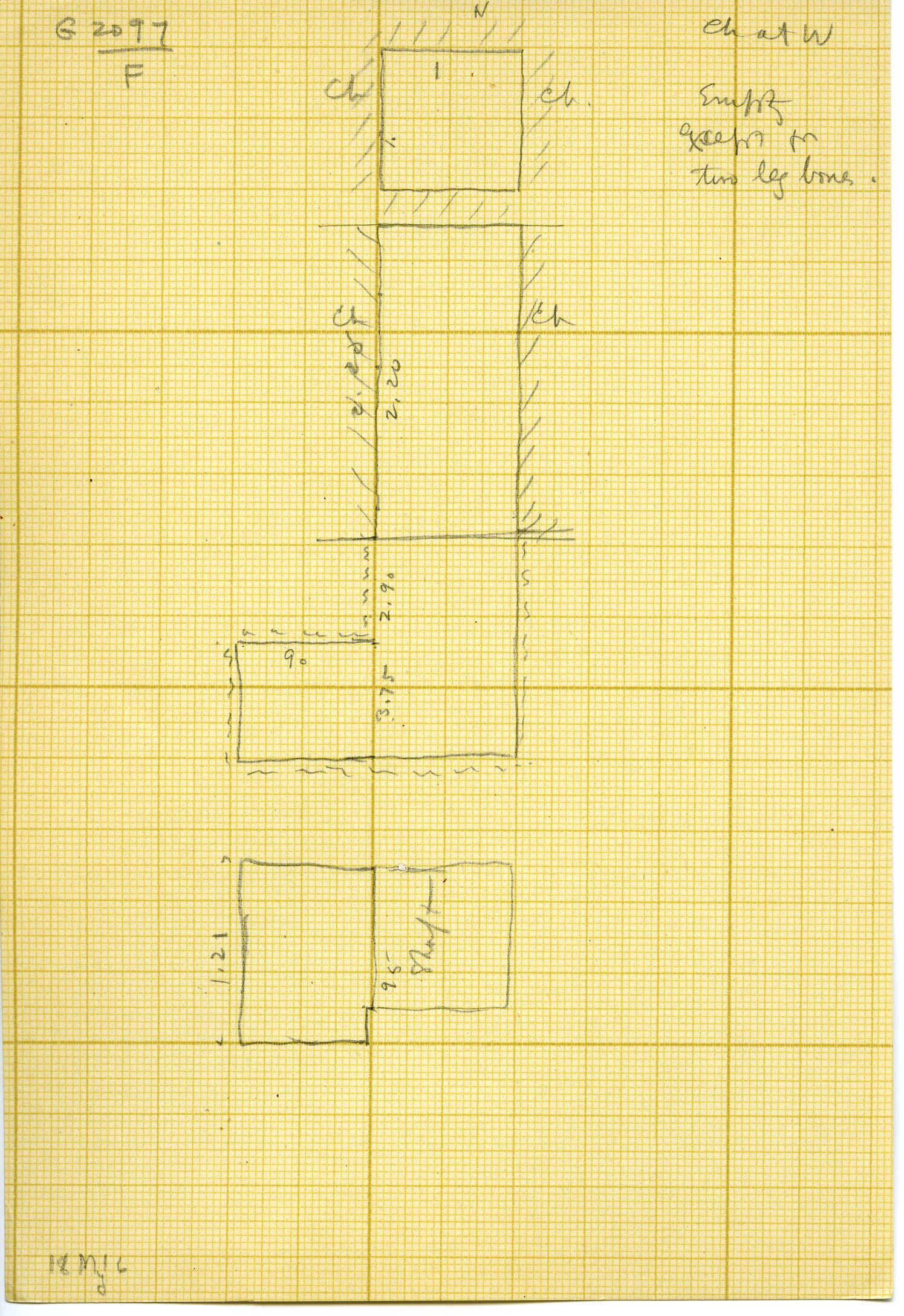 Maps and plans: G 3097, Shaft F