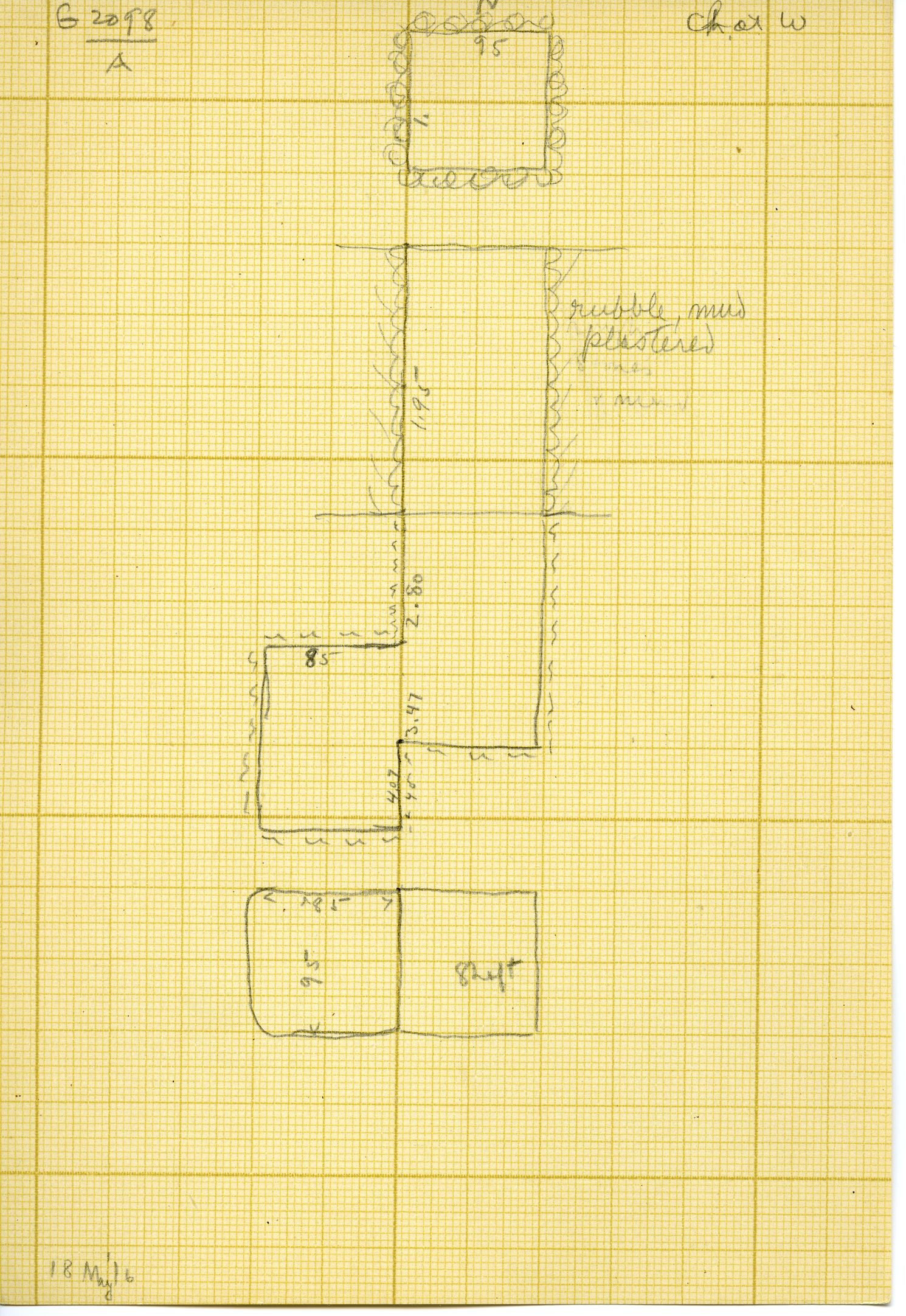 Maps and plans: G 3098, Shaft A