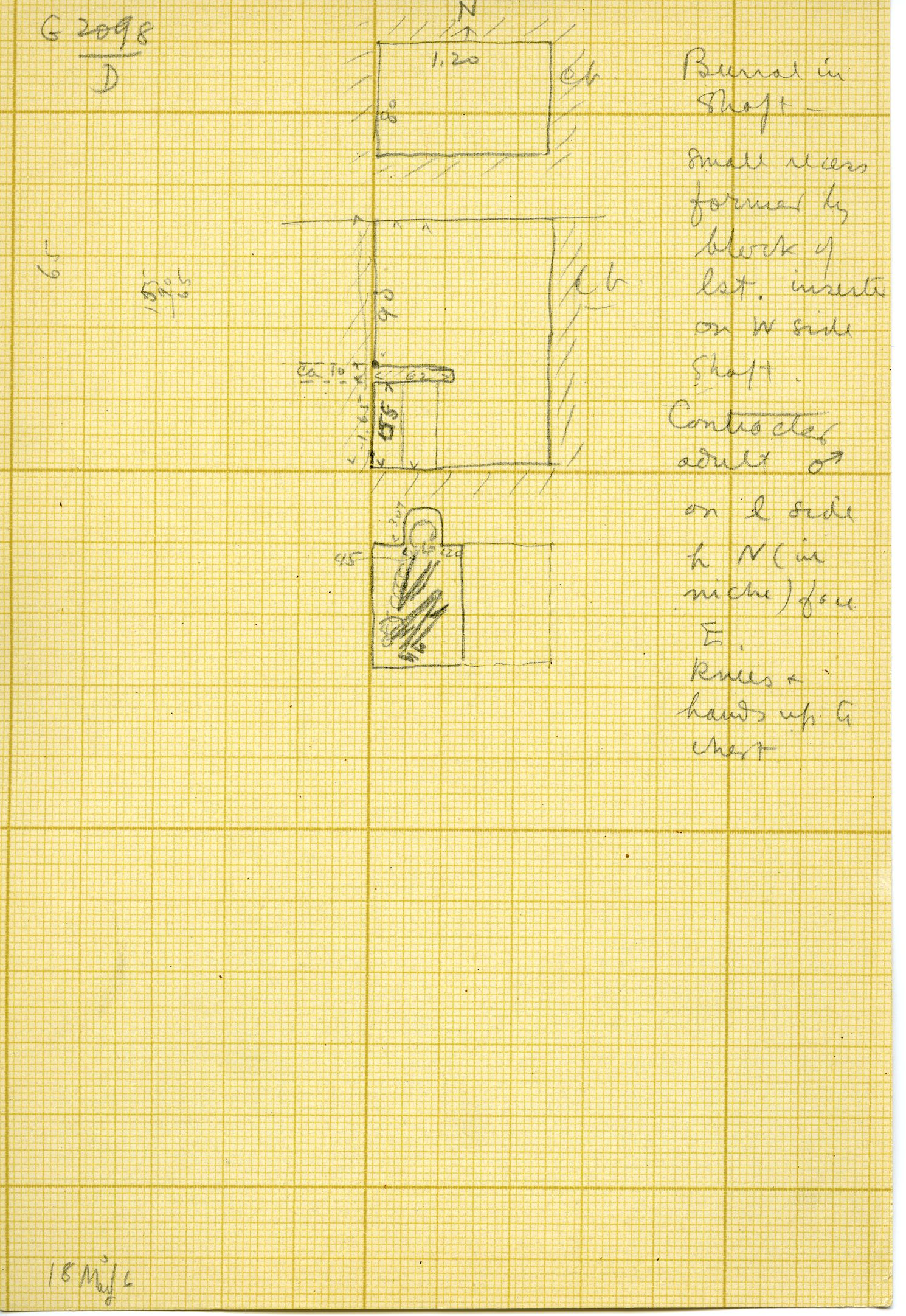 Maps and plans: G 3098, Shaft D