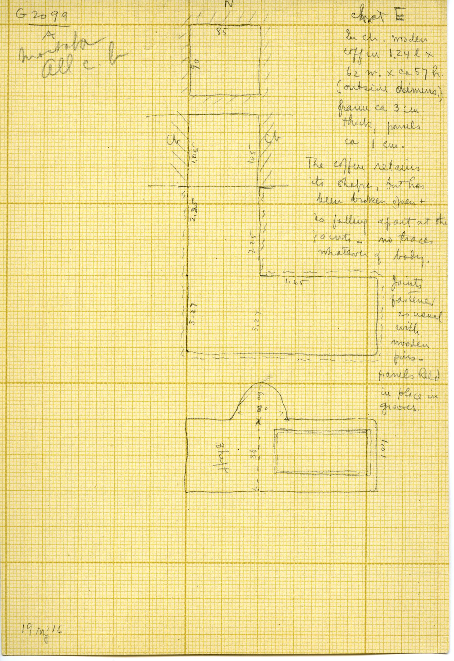 Maps and plans: G 3099, Shaft A