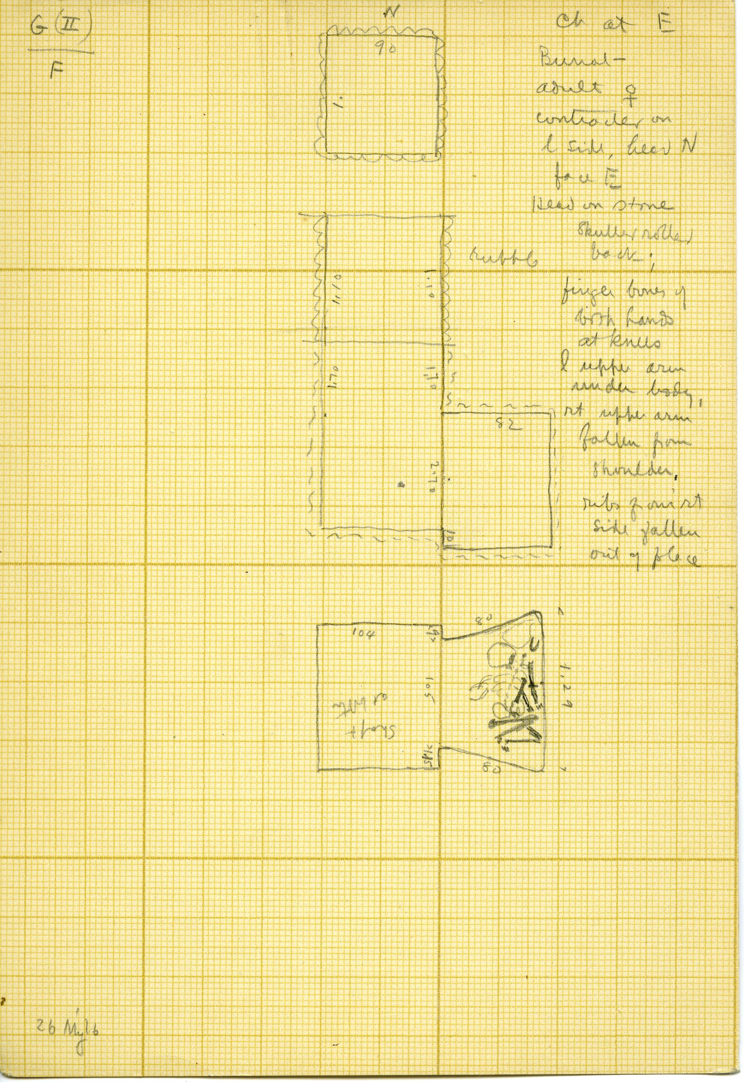 Maps and plans: Unknown Tomb, Shaft F