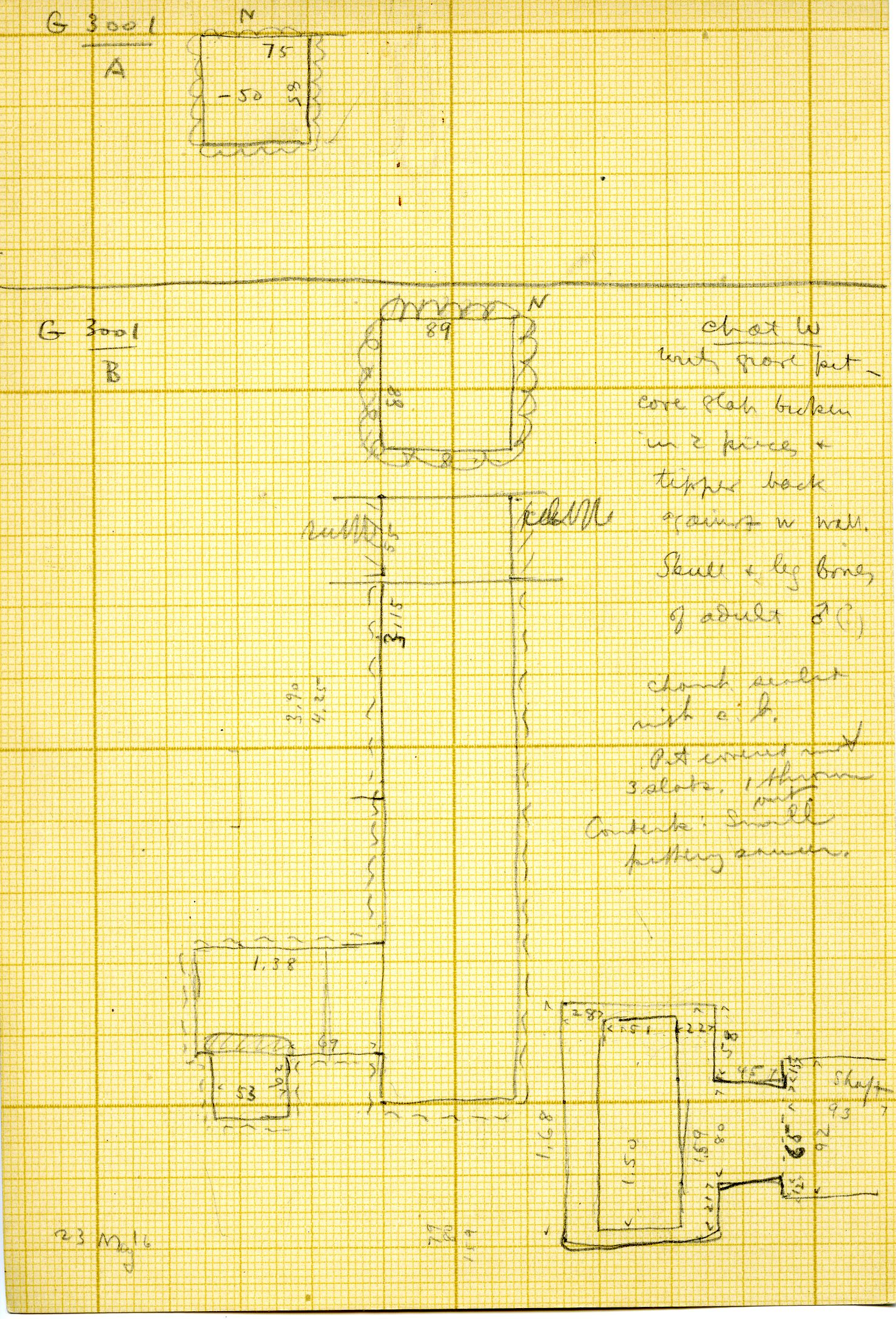 Maps and plans: G 3001, Shafts A, B
