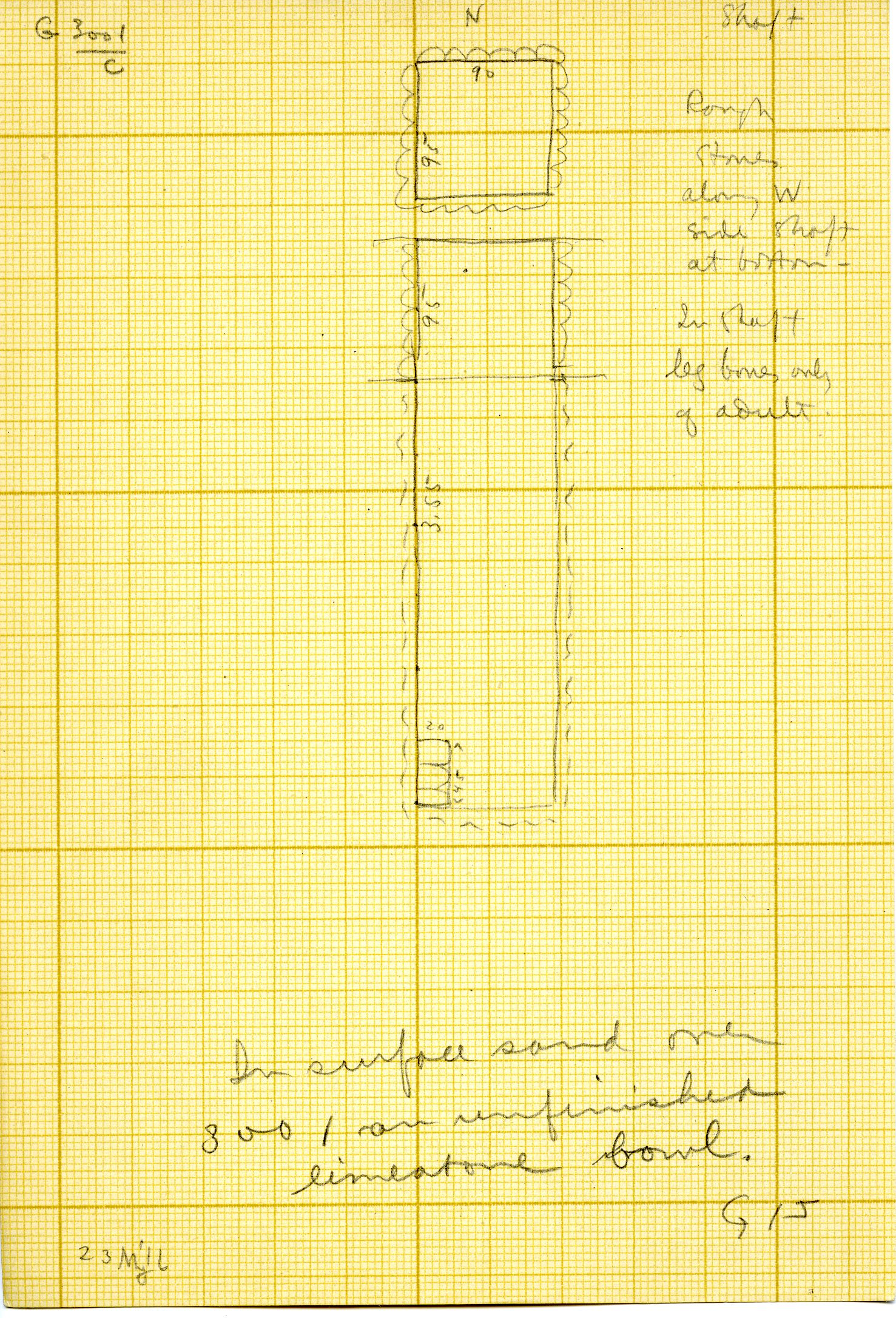 Maps and plans: G 3001, Shaft C