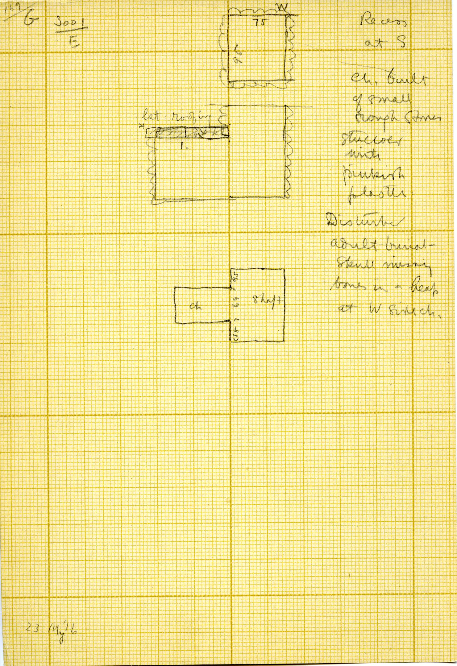 Maps and plans: G 3001, Shaft E