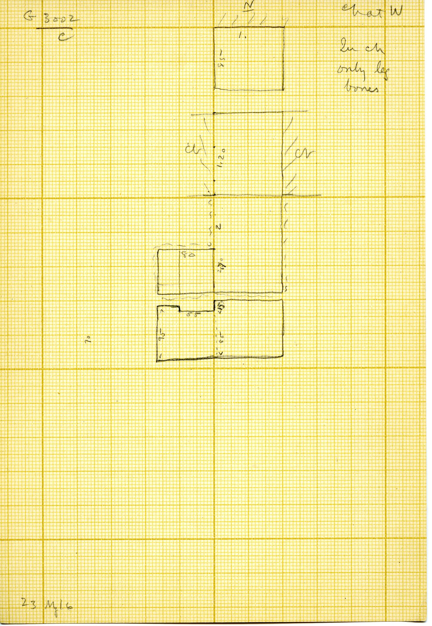 Maps and plans: G 3002, Shaft C