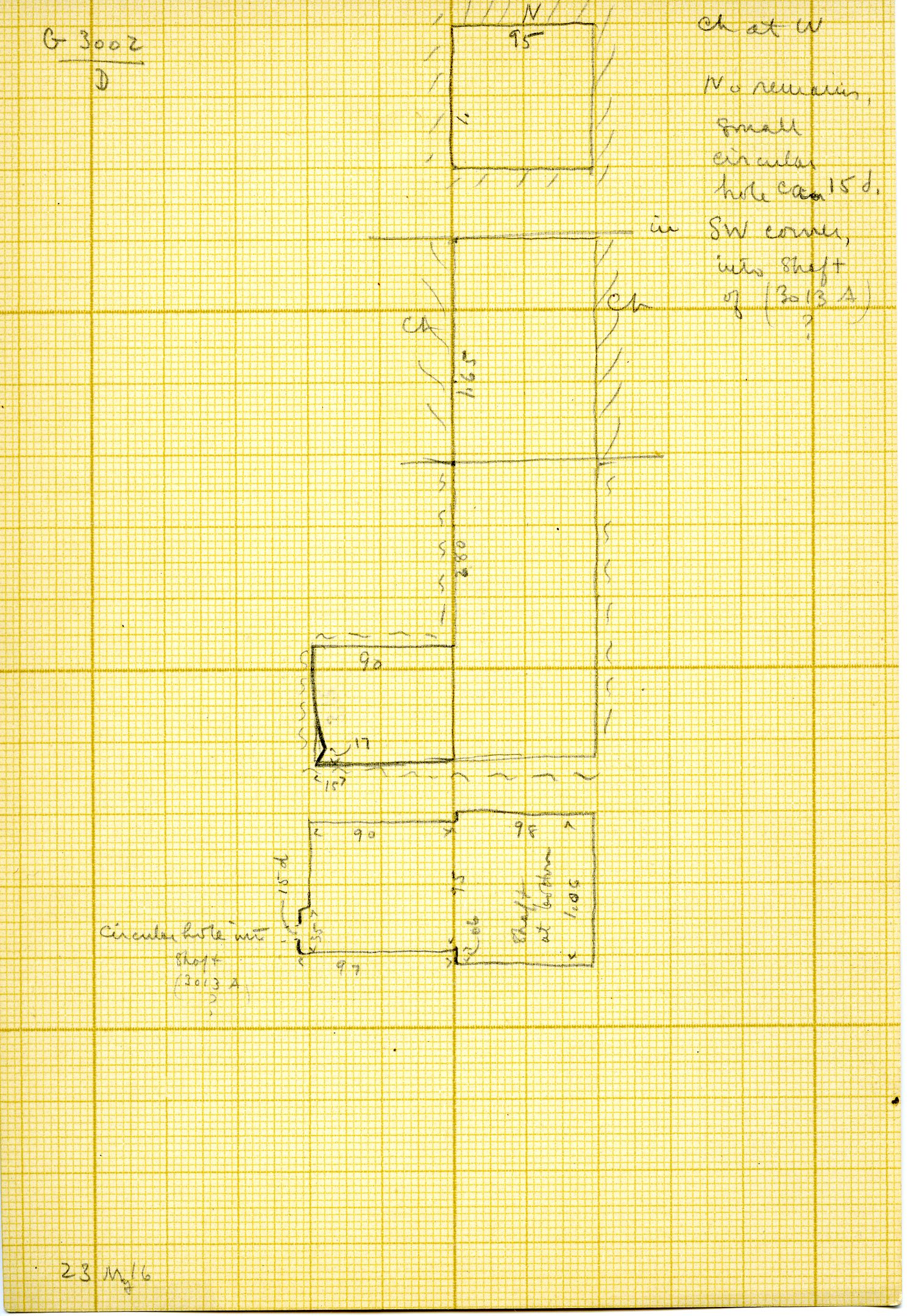 Maps and plans: G 3002, Shaft D