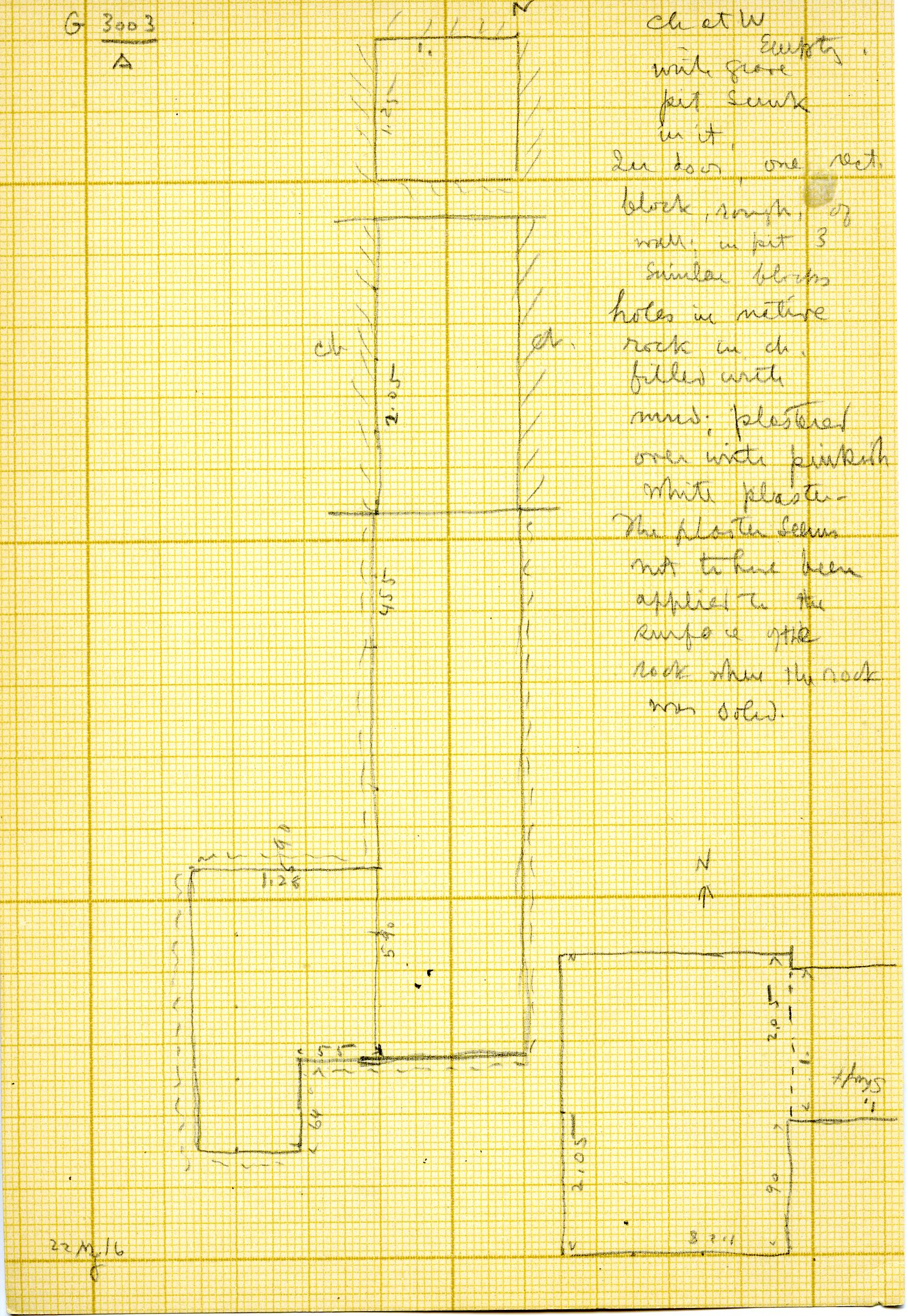Maps and plans: G 3003, Shaft A