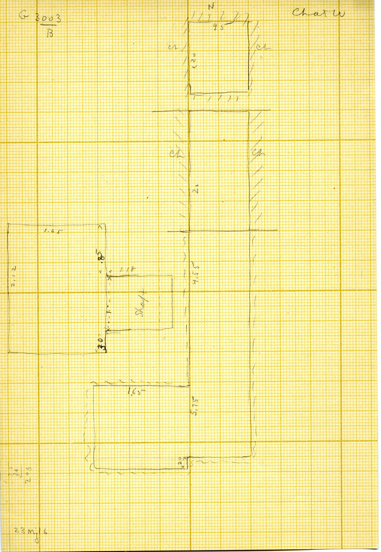 Maps and plans: G 3003, Shaft B