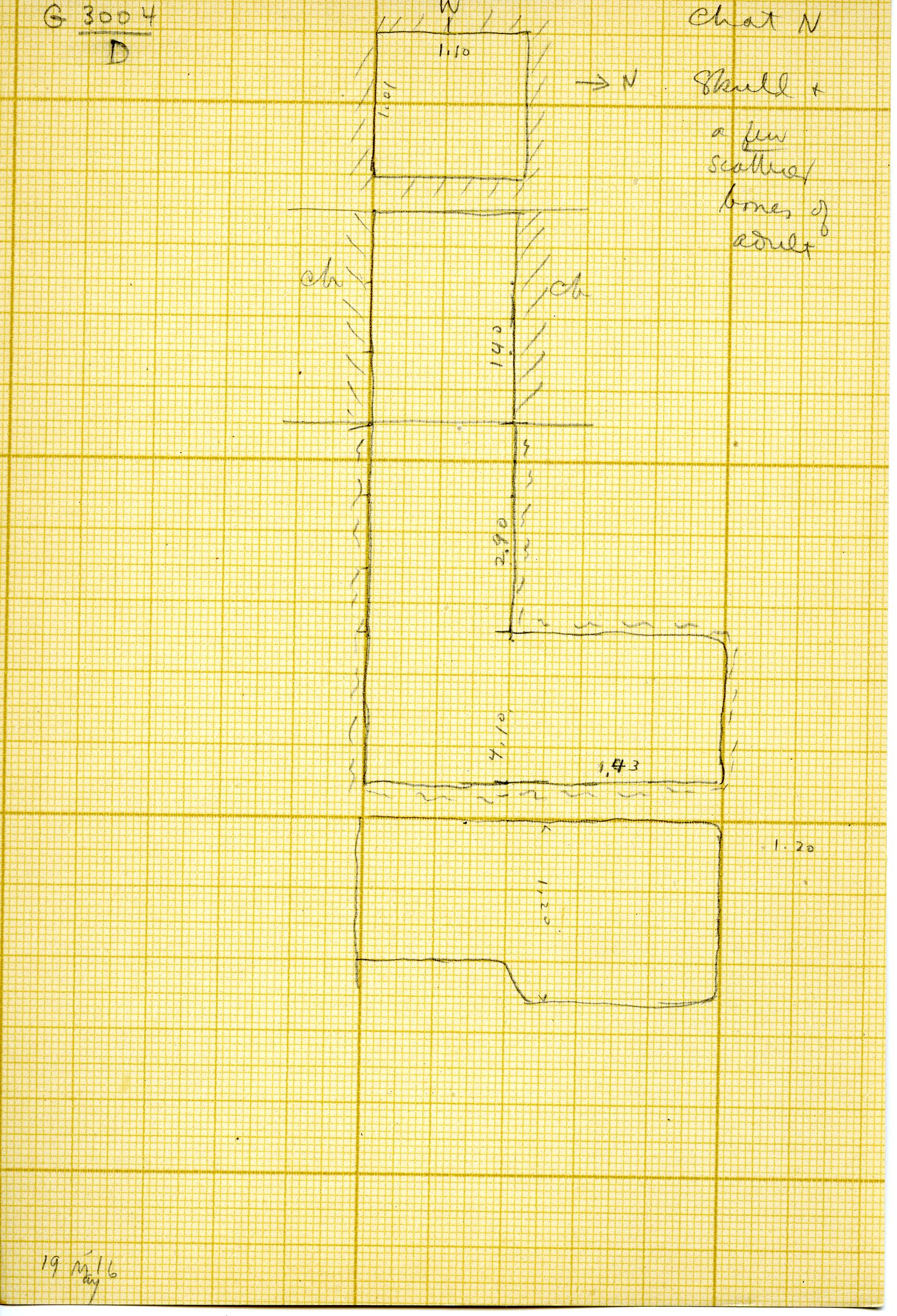 Maps and plans: G 3004, Shaft D