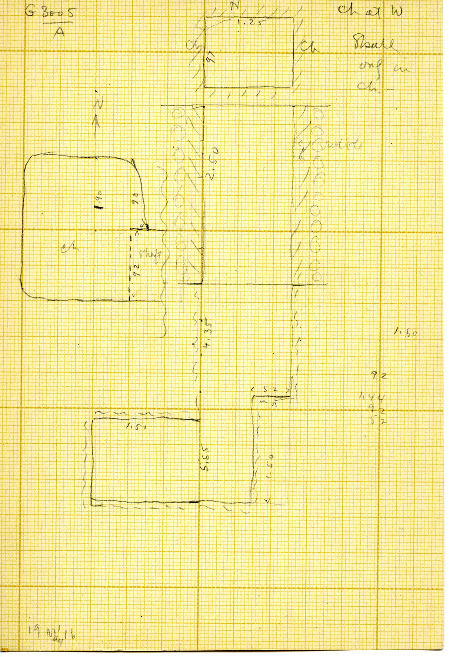 Maps and plans: G 3005, Shaft A