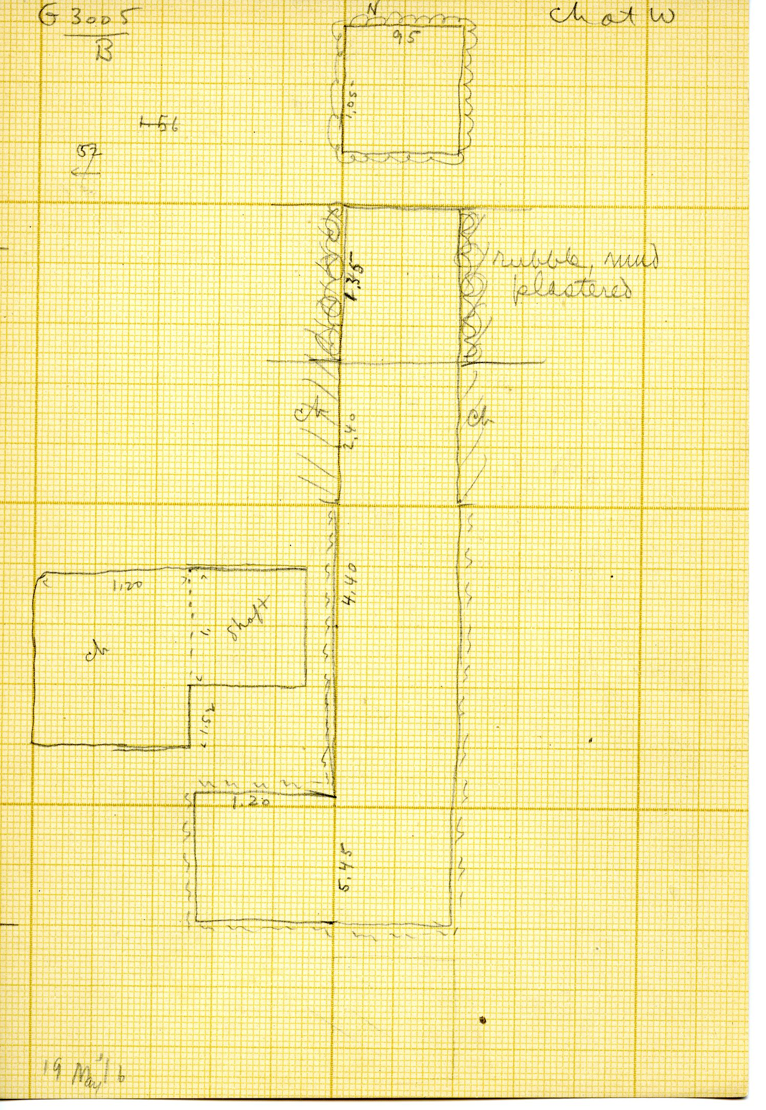 Maps and plans: G 3005, Shaft B