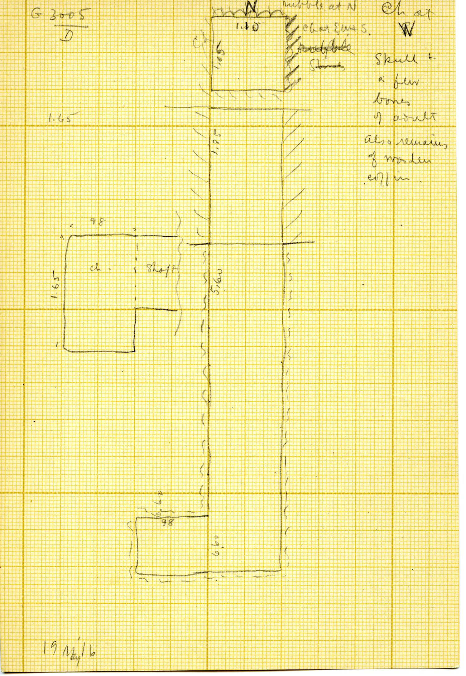 Maps and plans: G 3005, Shaft D