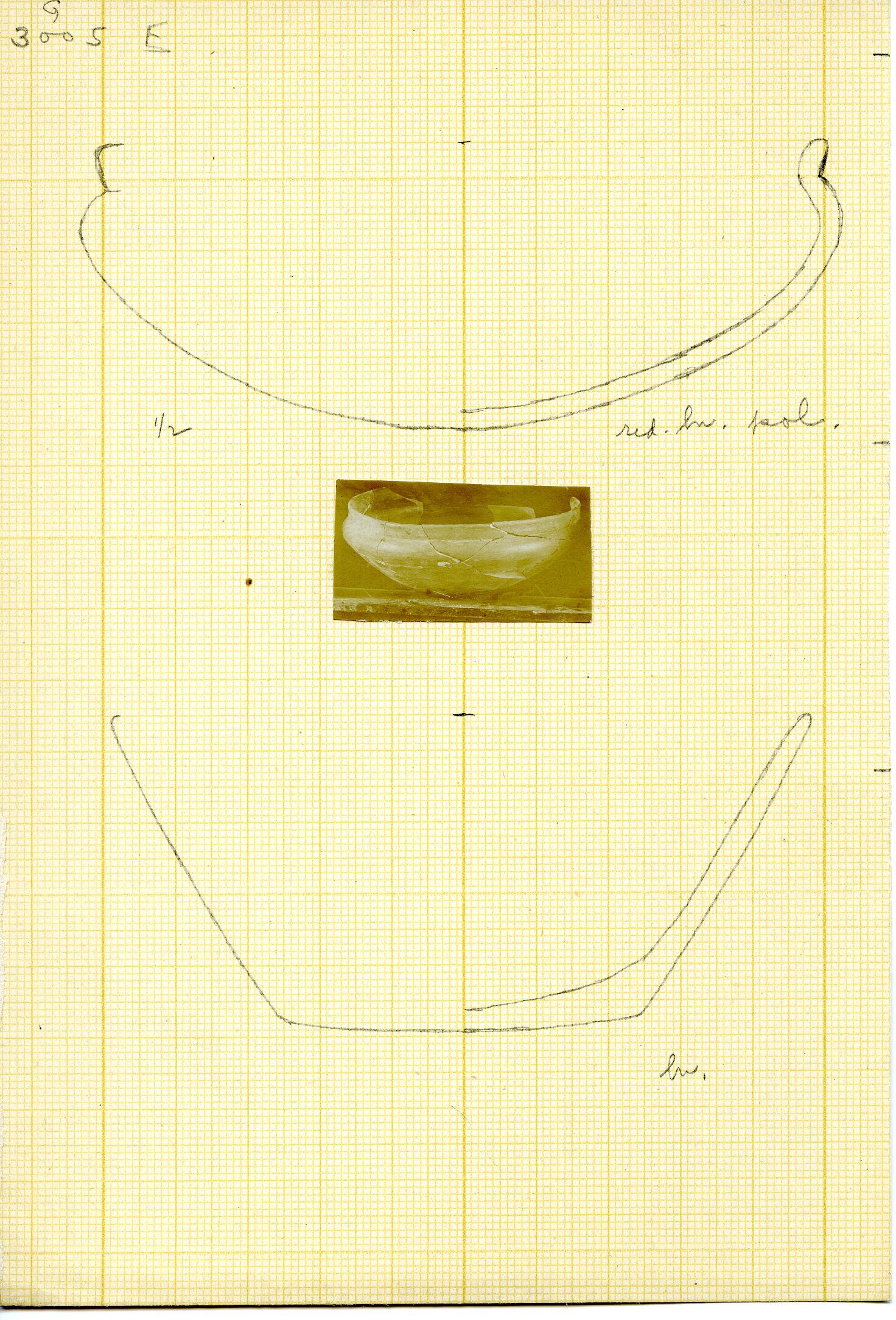 Drawings: G 3005: pottery bowls