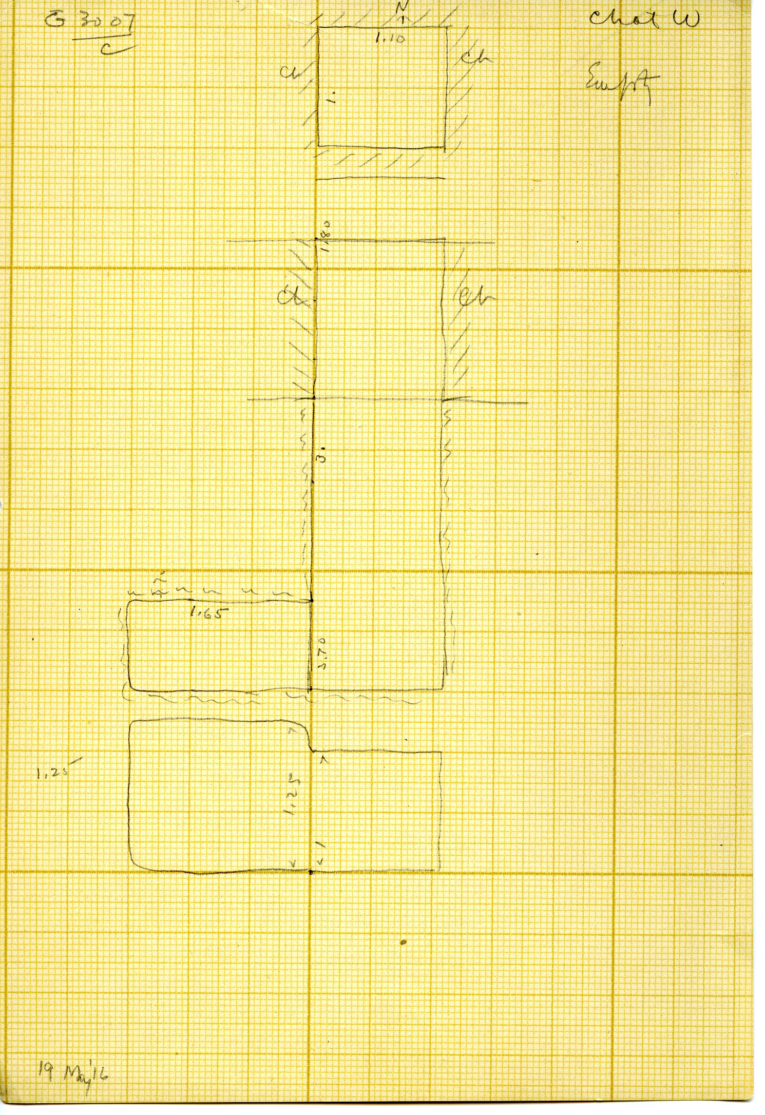 Maps and plans: G 3007, Shaft C