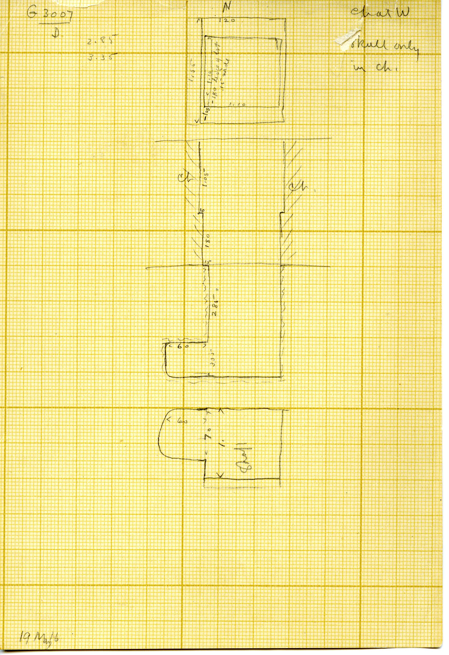 Maps and plans: G 3007, Shaft D