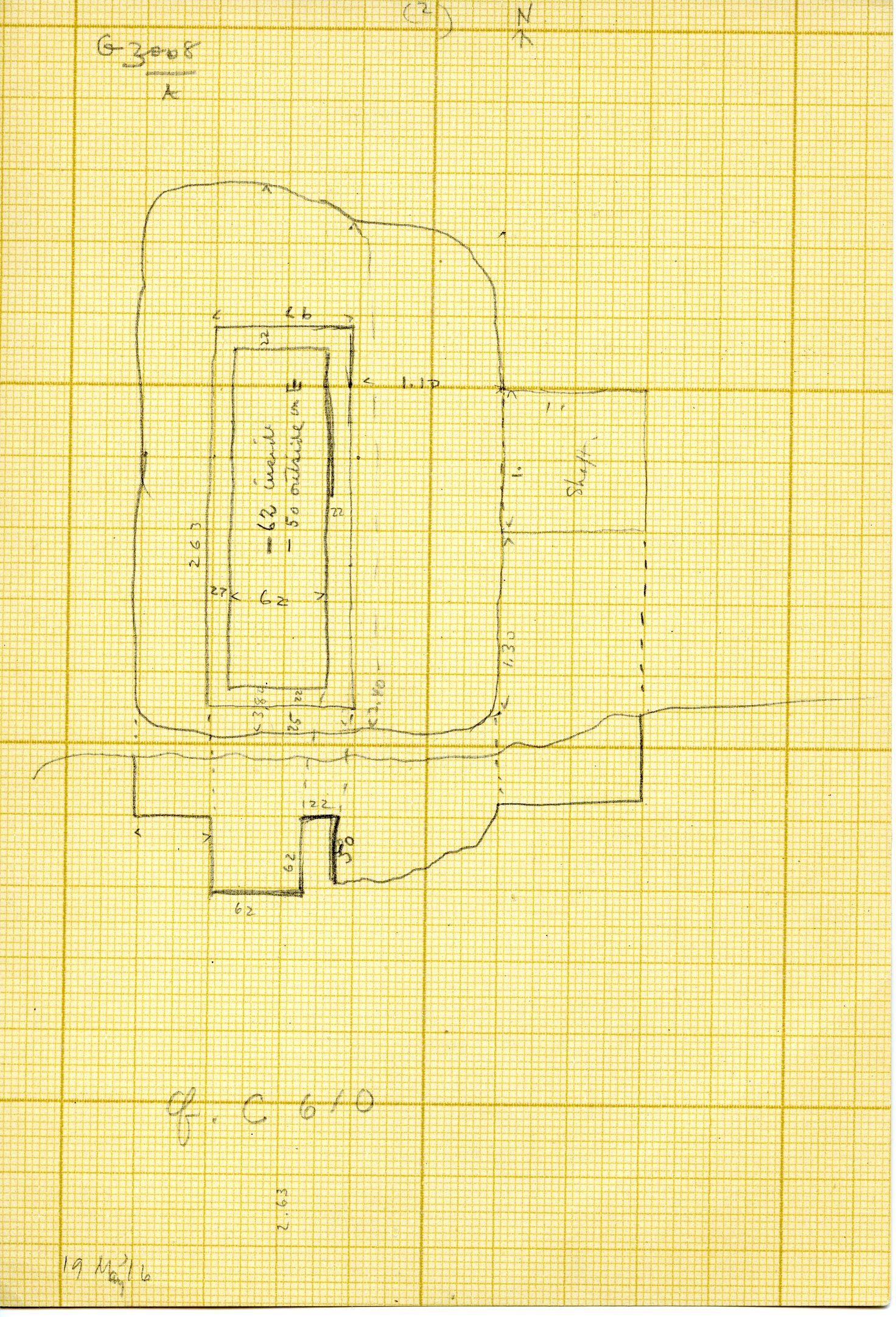 Maps and plans: G 3008, Shaft A