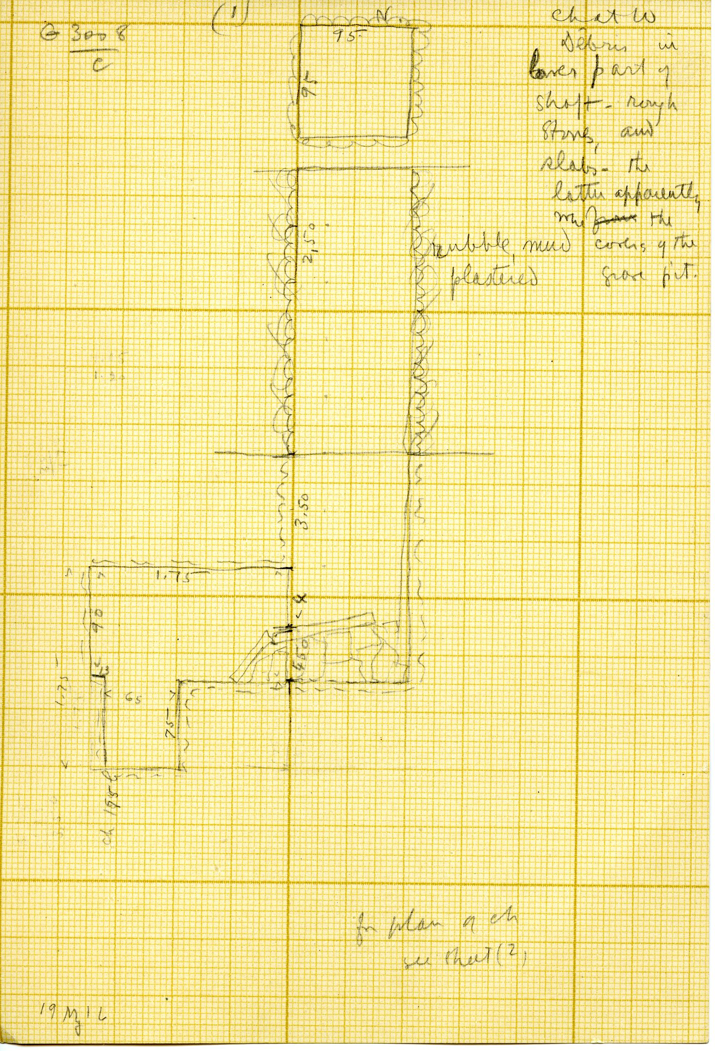 Maps and plans: G 3008, Shaft C