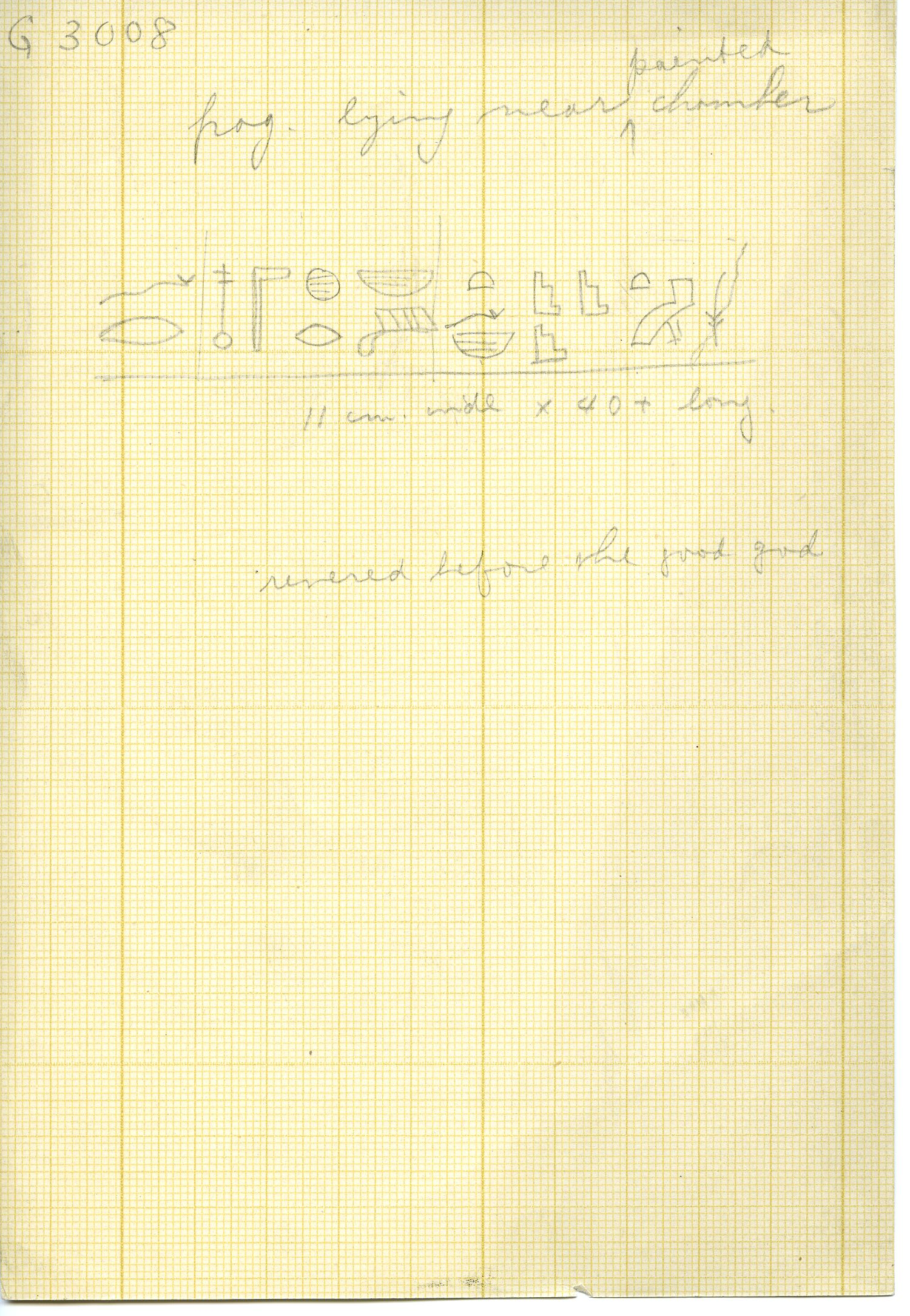 Drawings: G 3008: inscribed fragment