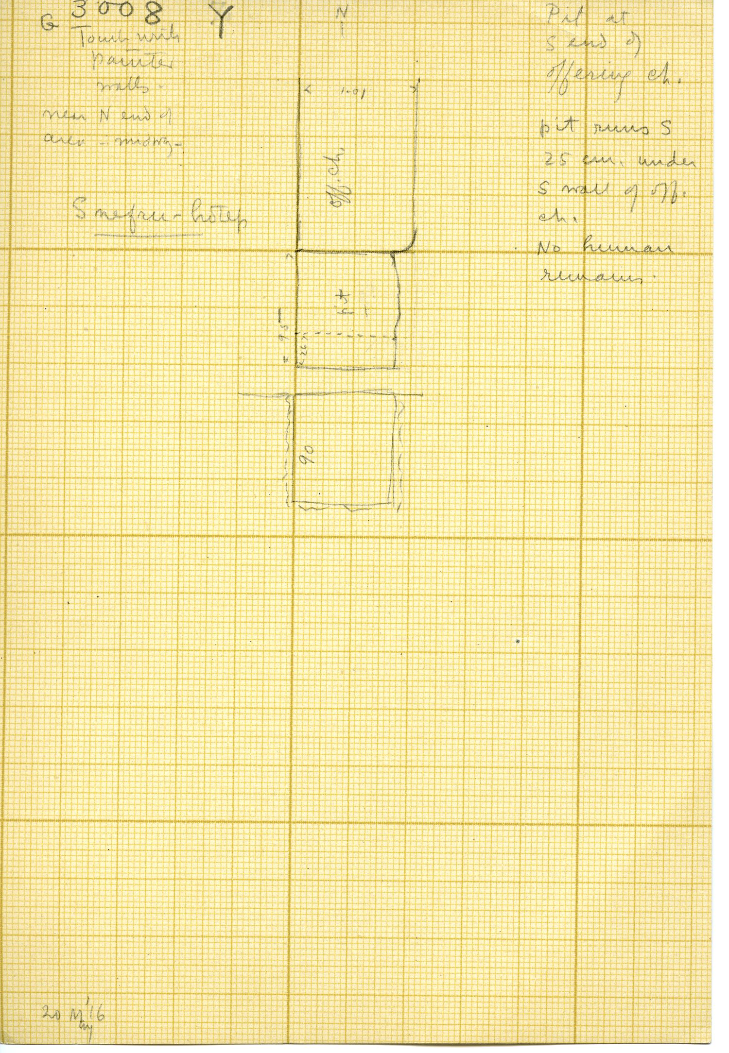 Maps and plans: G 3008, Shaft Y