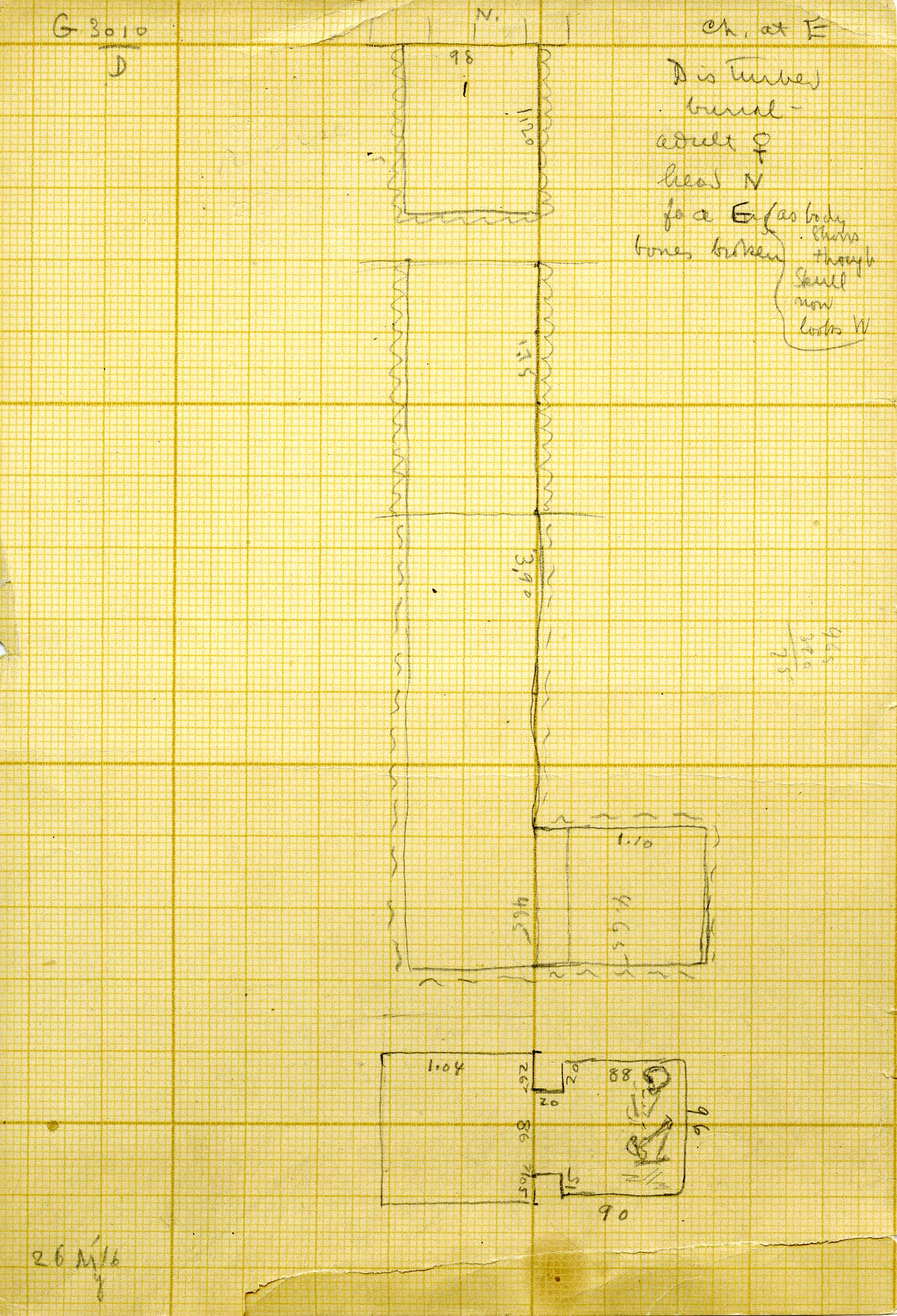 Maps and plans: G 3010, Shaft D