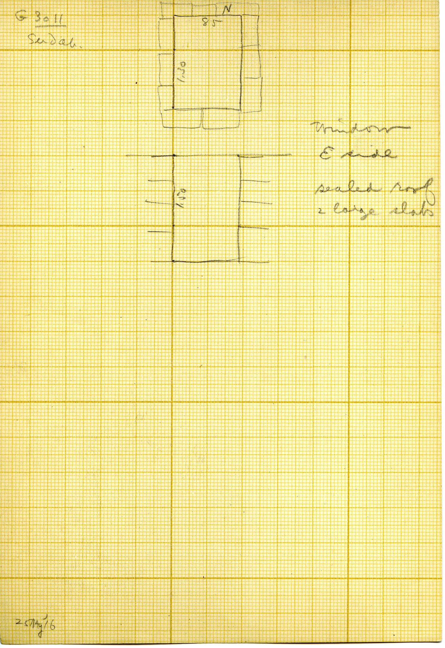 Maps and plans: G 3011, Serdab