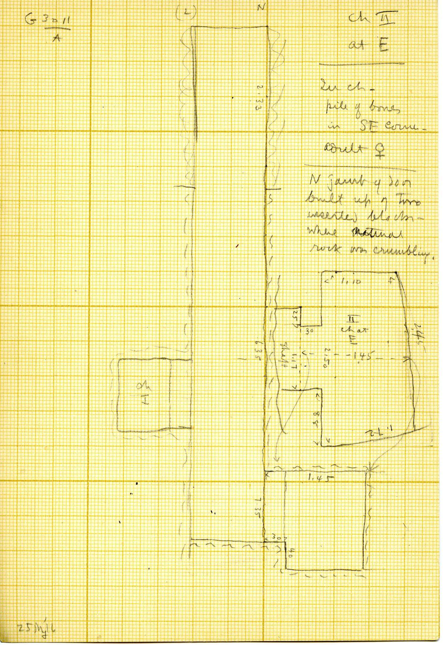 Maps and plans: G 3011, Shaft A