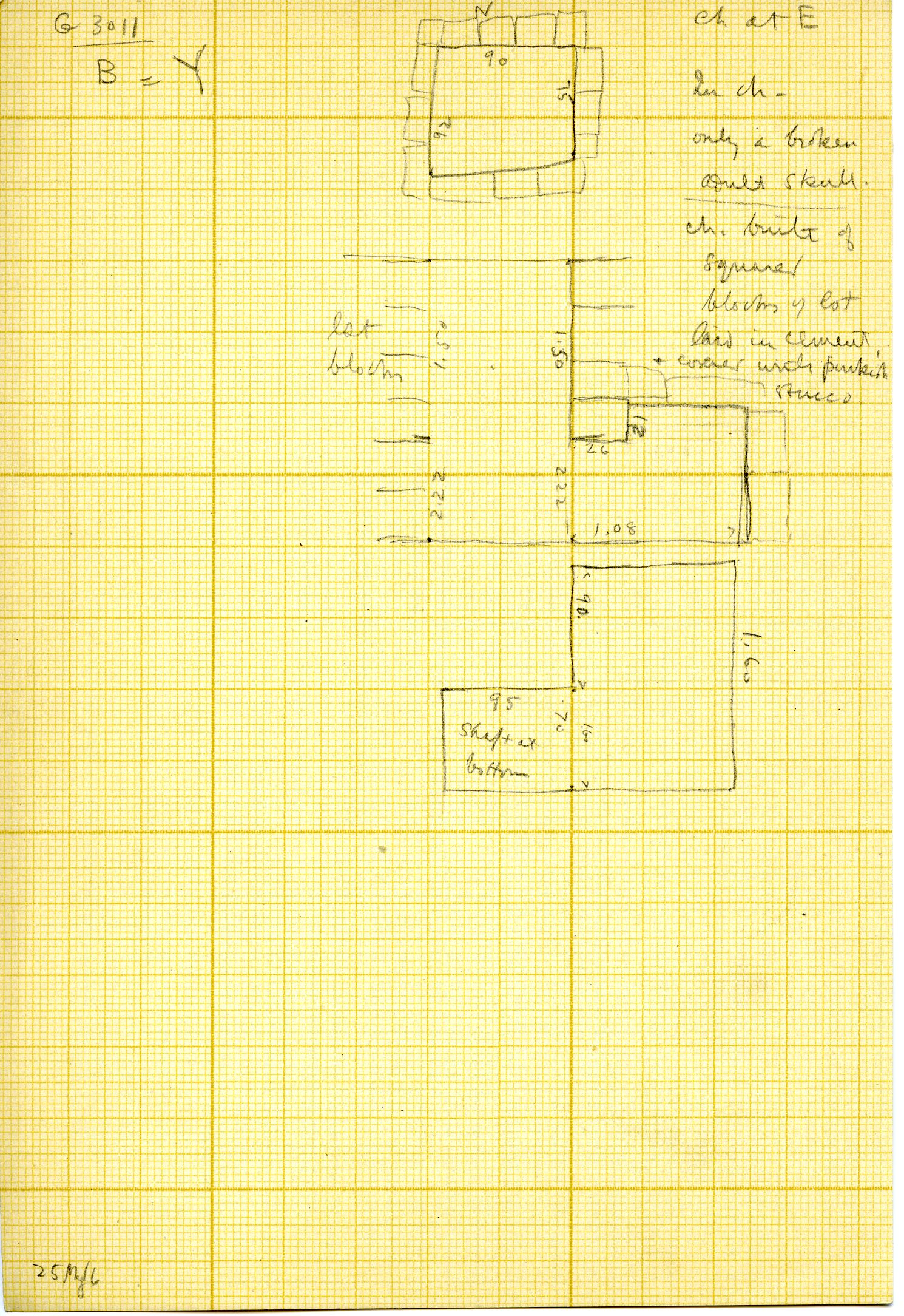 Maps and plans: G 3011, Shaft Y