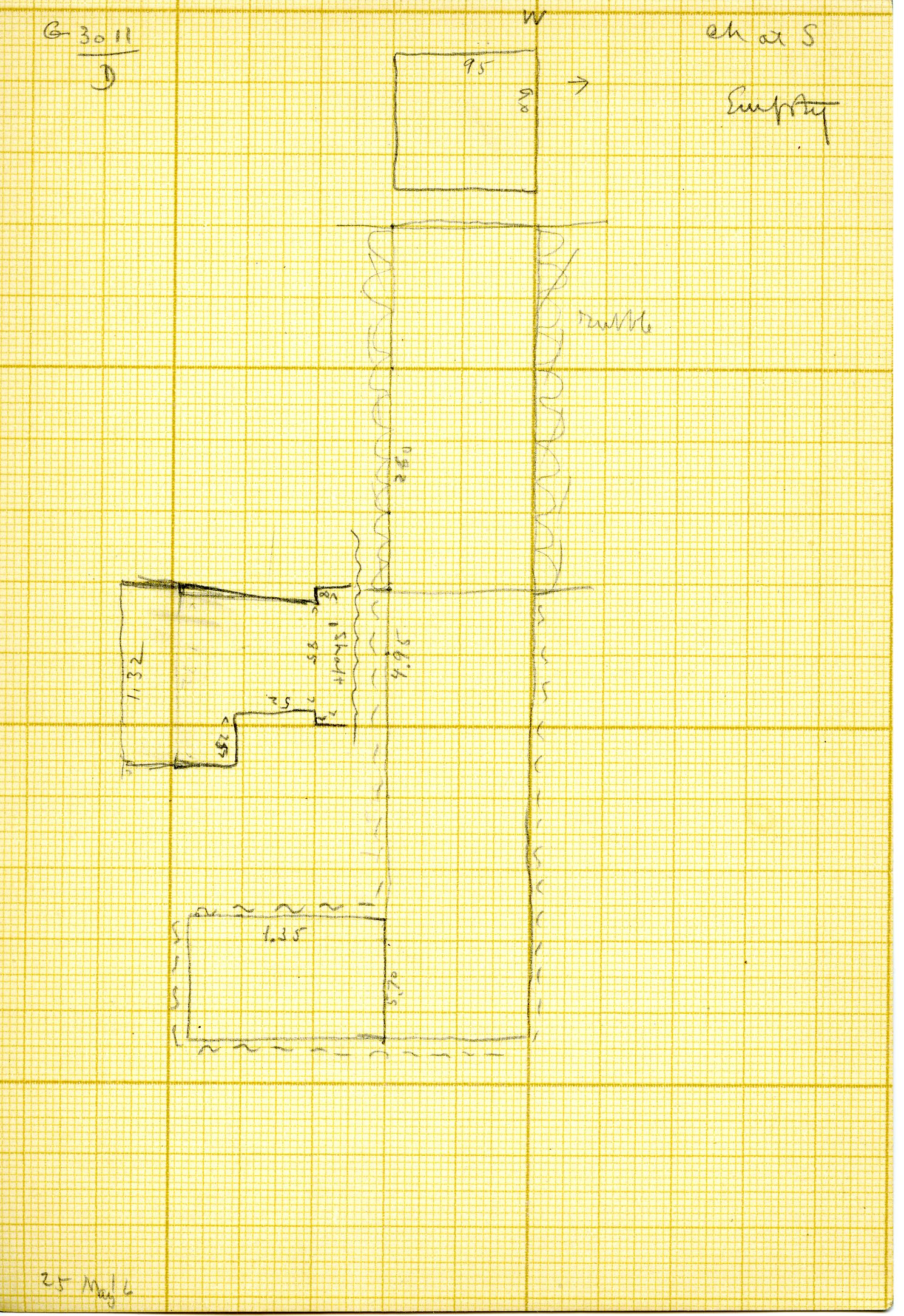 Maps and plans: G 3011, Shaft D