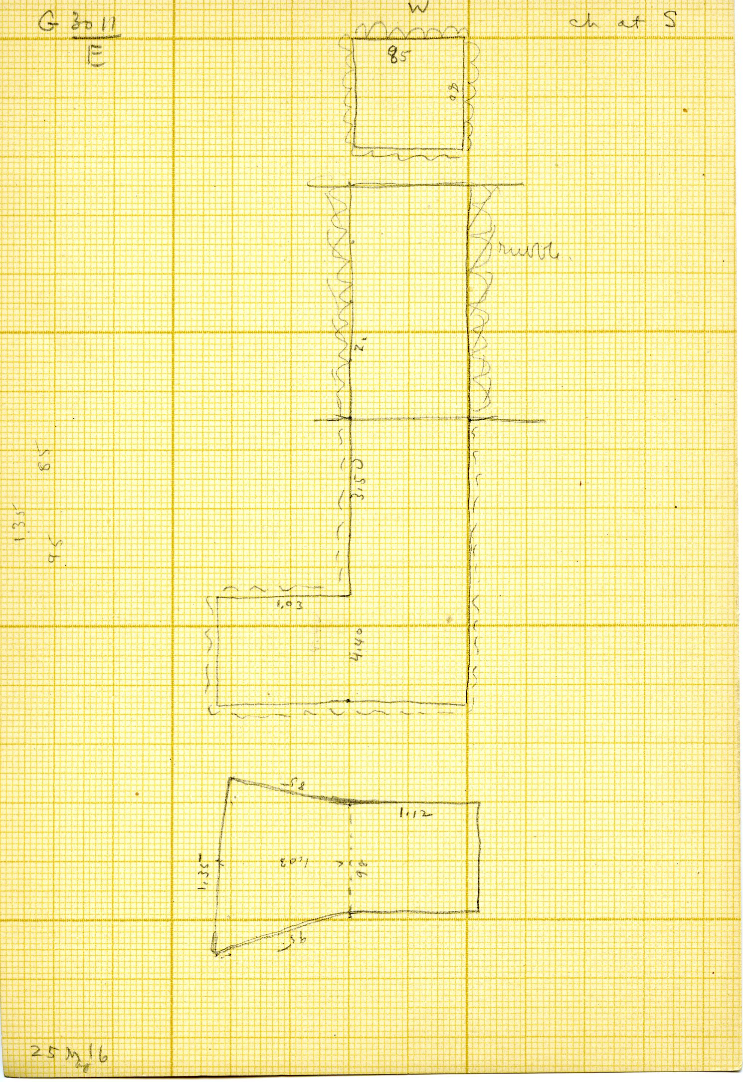 Maps and plans: G 3011, Shaft E
