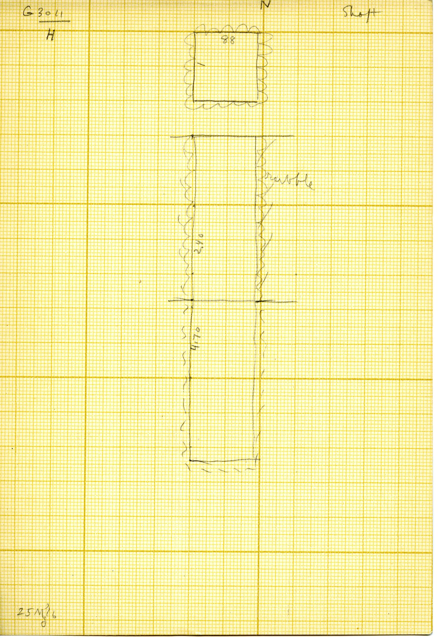 Maps and plans: G 3011, Shaft H