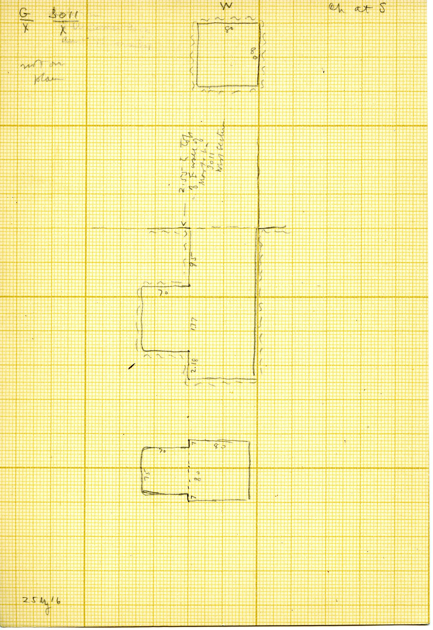 Maps and plans: G 3011, Shaft X